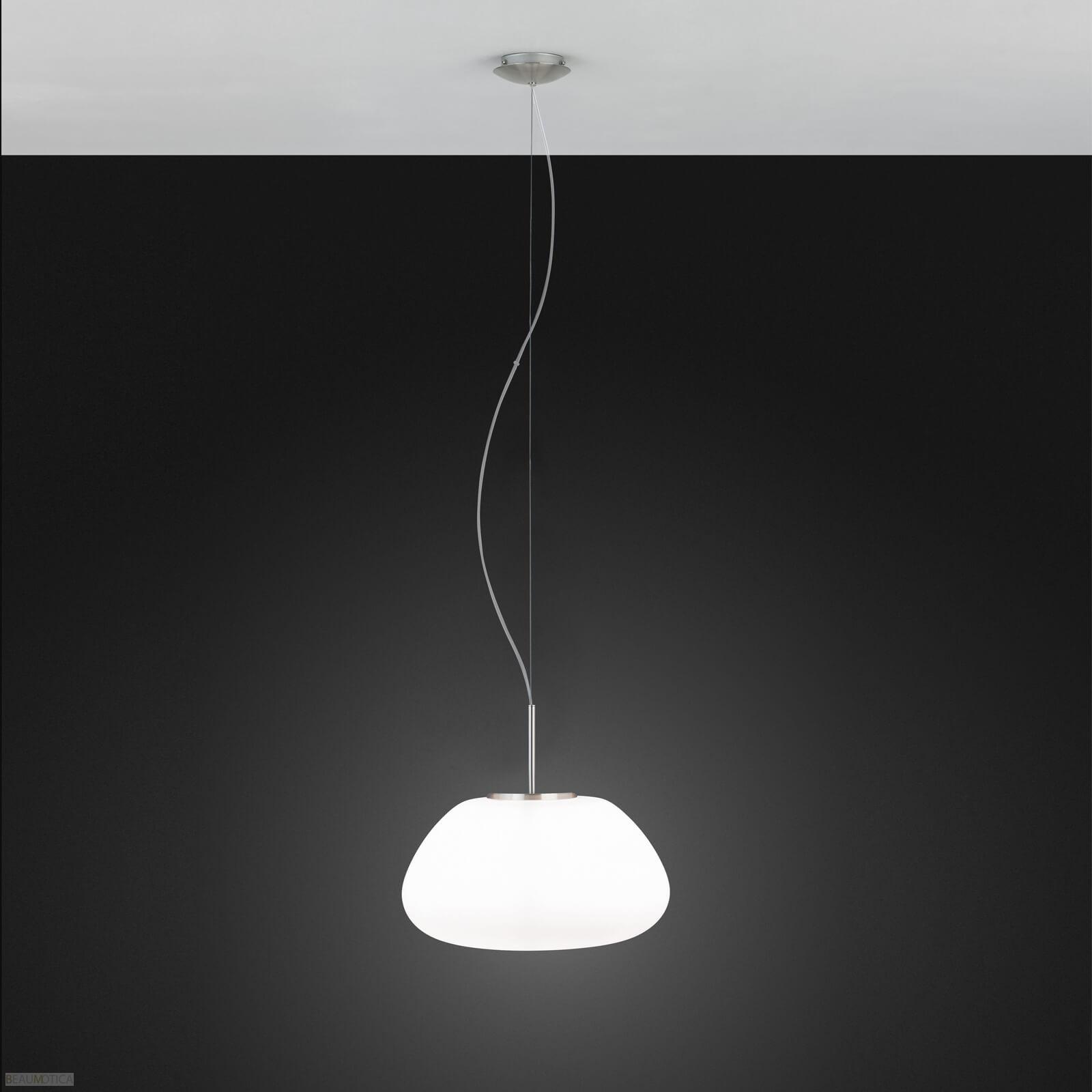 Afbeelding van Eglo Balmes Hanglamp Mat Chroom, Opaal (ø41,5cm)