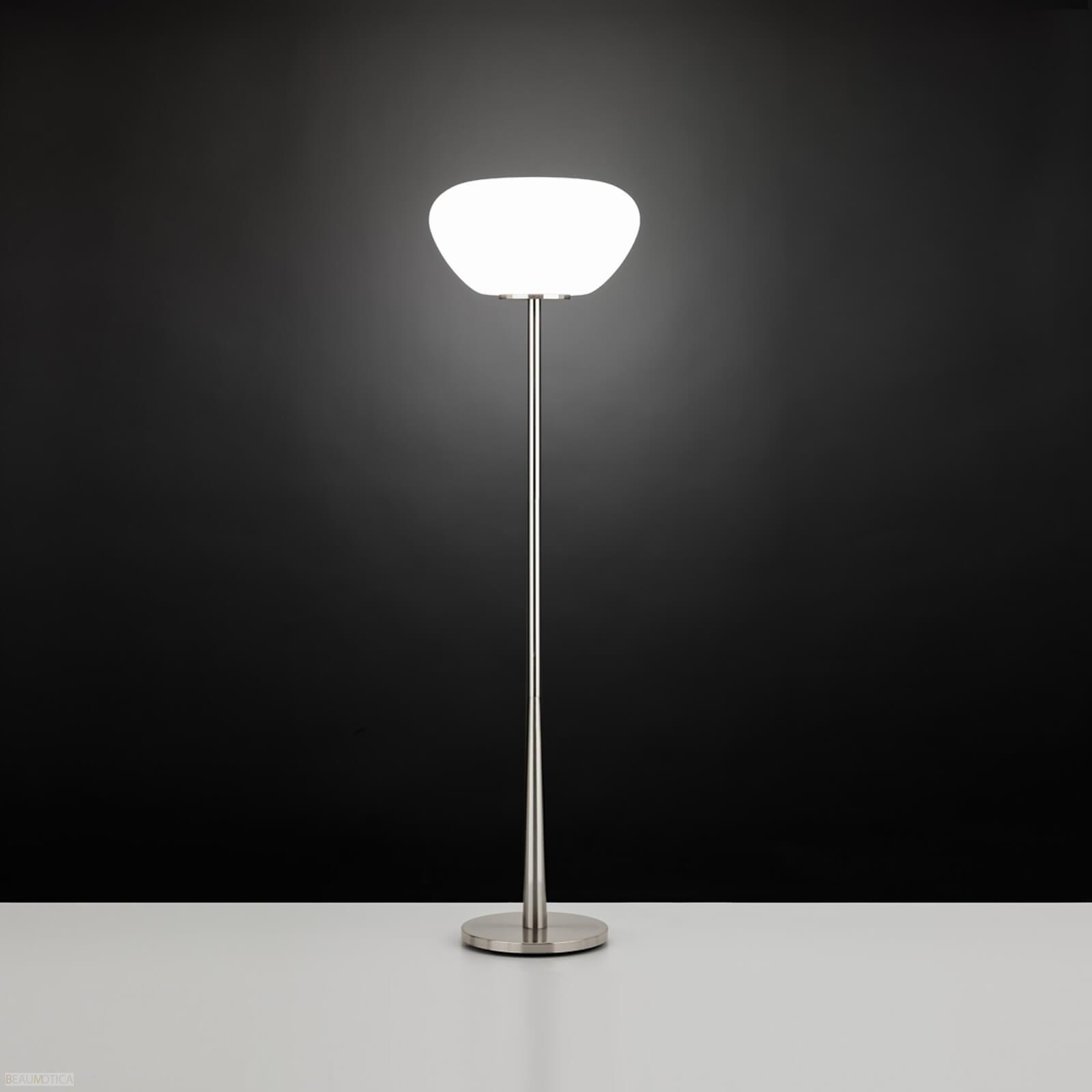 Afbeelding van Eglo Balmes Vloerlamp Mat Chroom, Opaal (ø41,5cm)