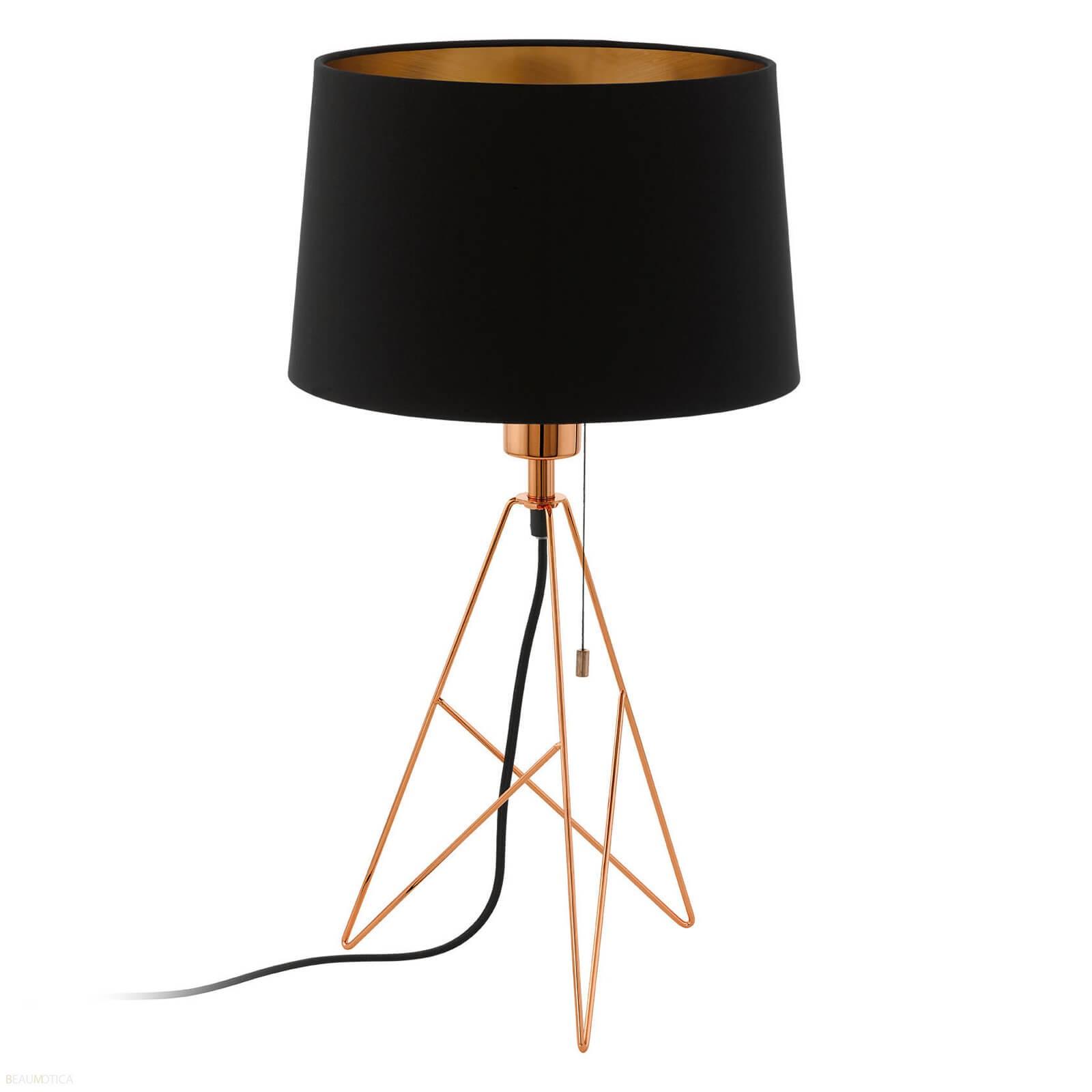 Afbeelding van Eglo Camporale Tafellamp Zwart, Koper (ø30cm)