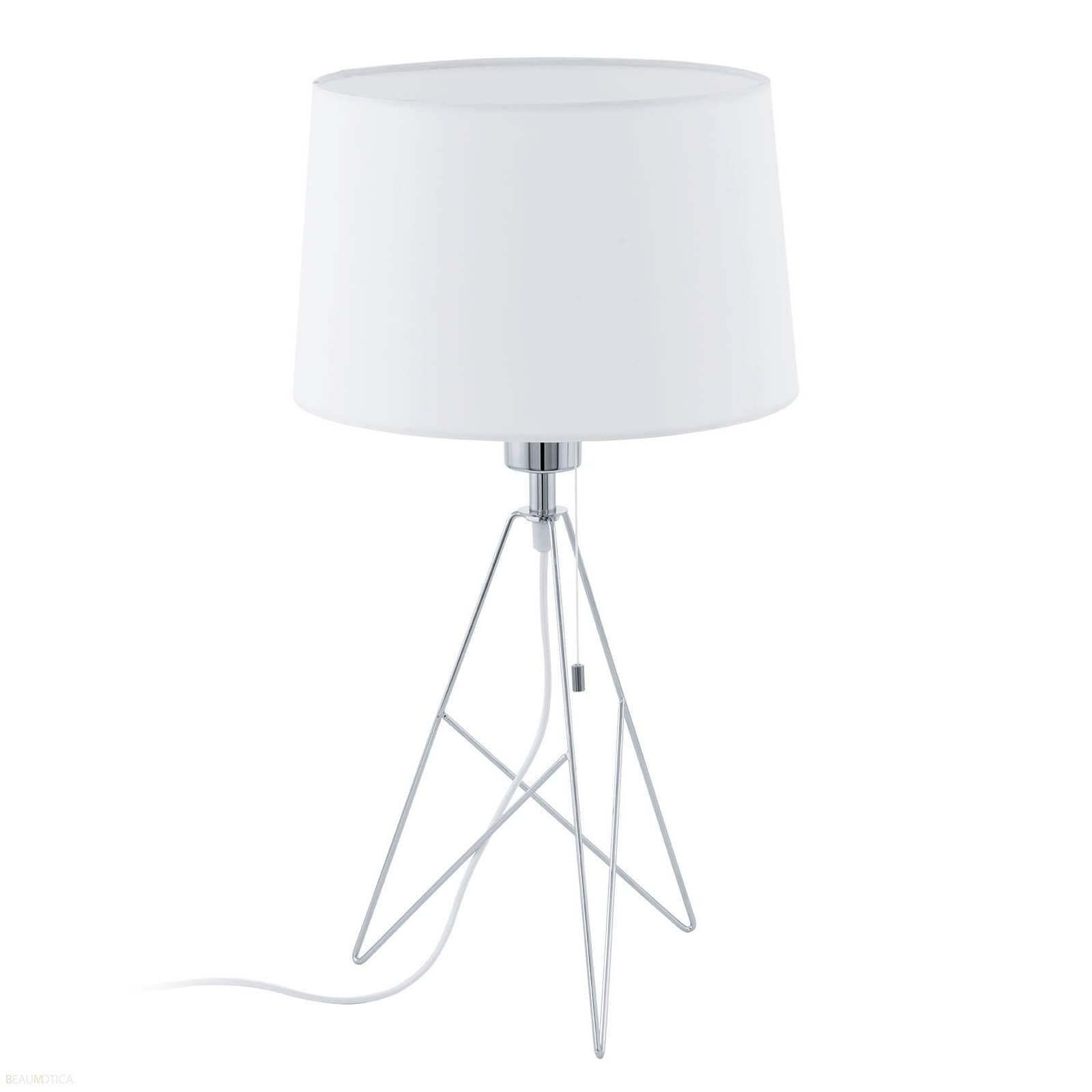 Afbeelding van Eglo Camporale Tafellamp Wit, Chroom (ø30cm)
