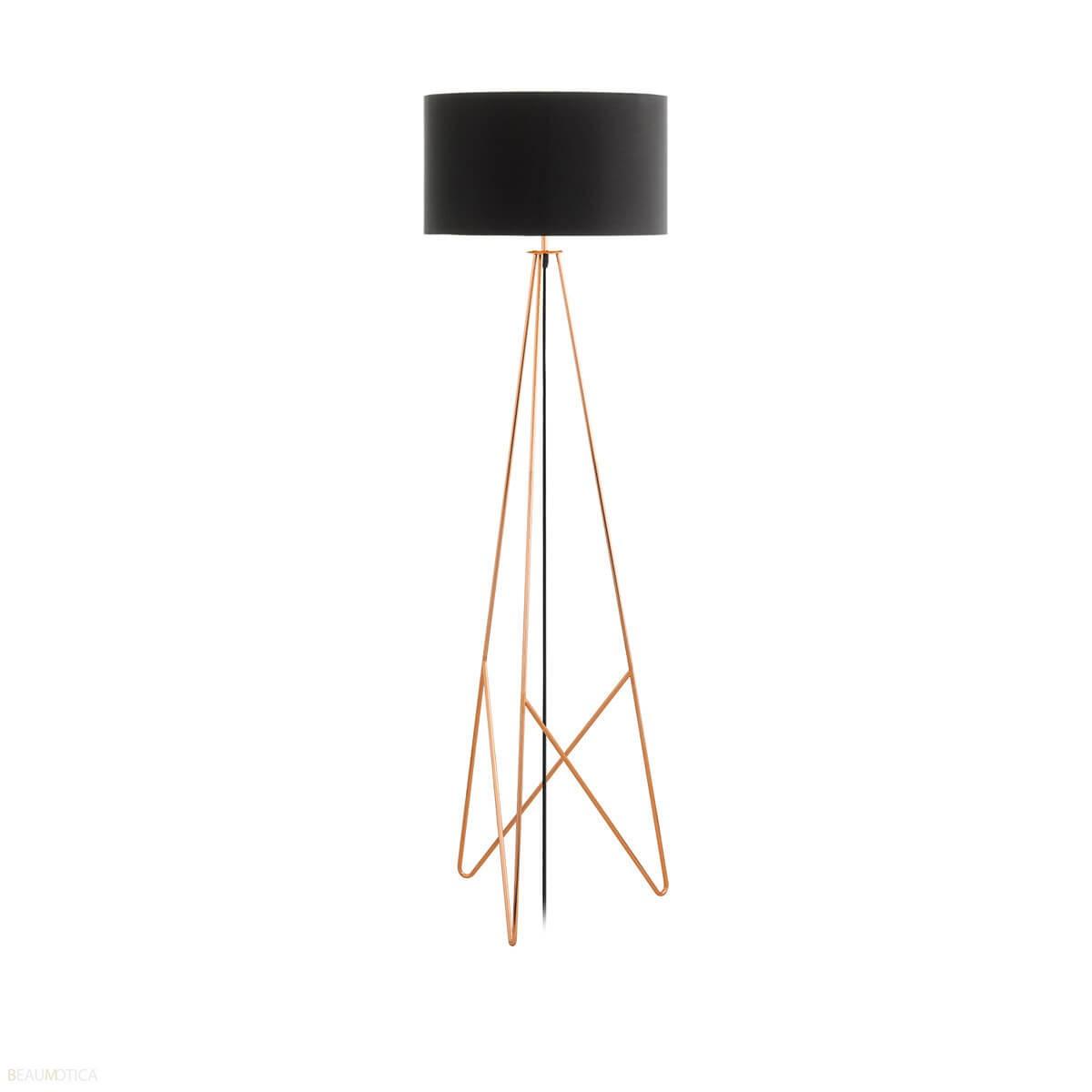Afbeelding van Eglo Camporale Vloerlamp Zwart, Koper (ø45cm)