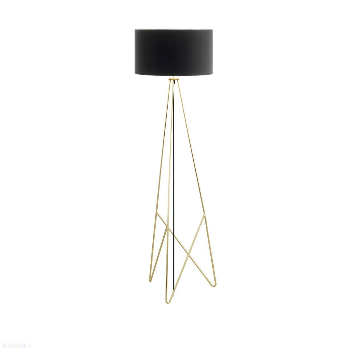 Vaak Eglo Camporale Vloerlamp Zwart, Goud, Messing (ø45cm) UM68