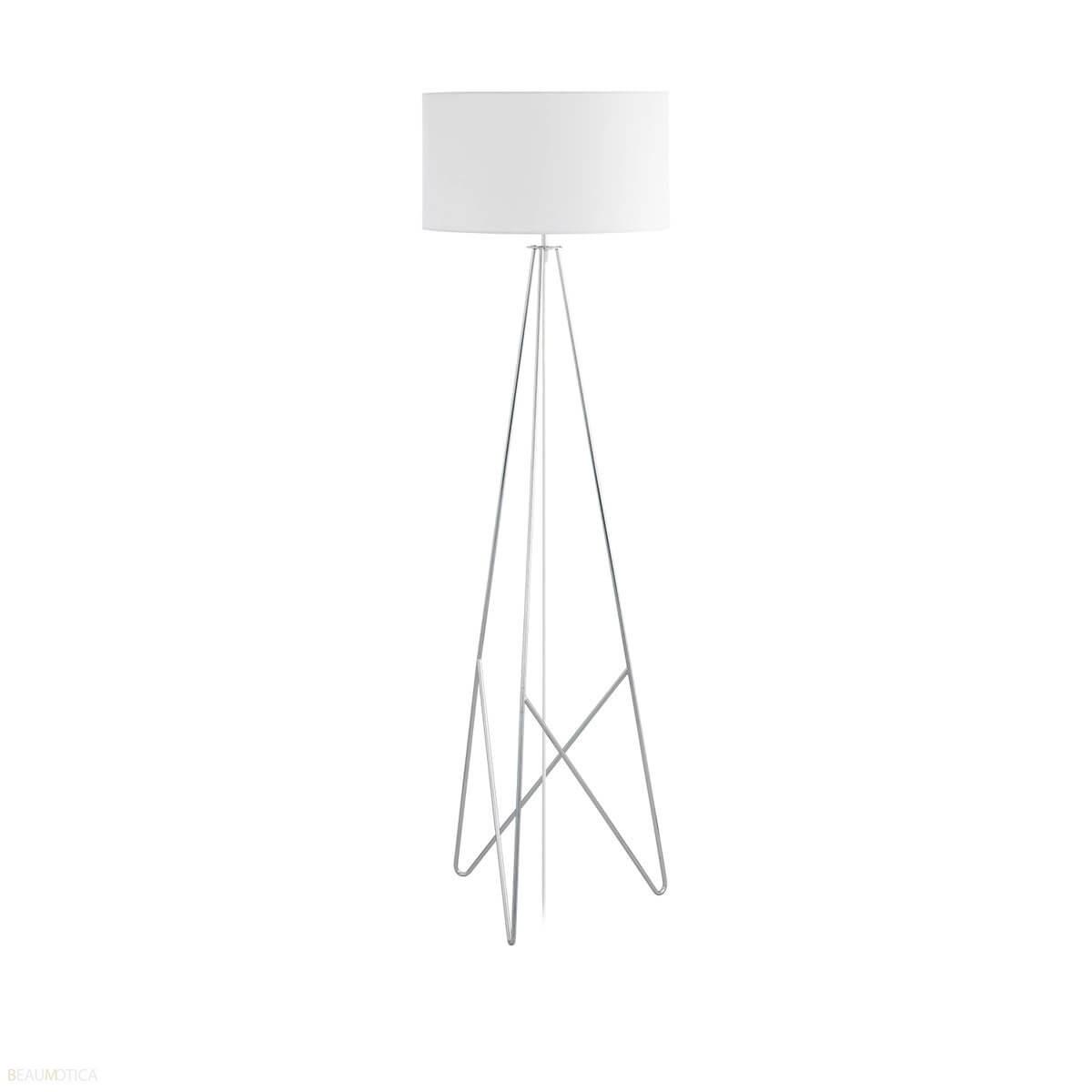 Afbeelding van Eglo Camporale Vloerlamp Wit, Chroom (ø45cm)