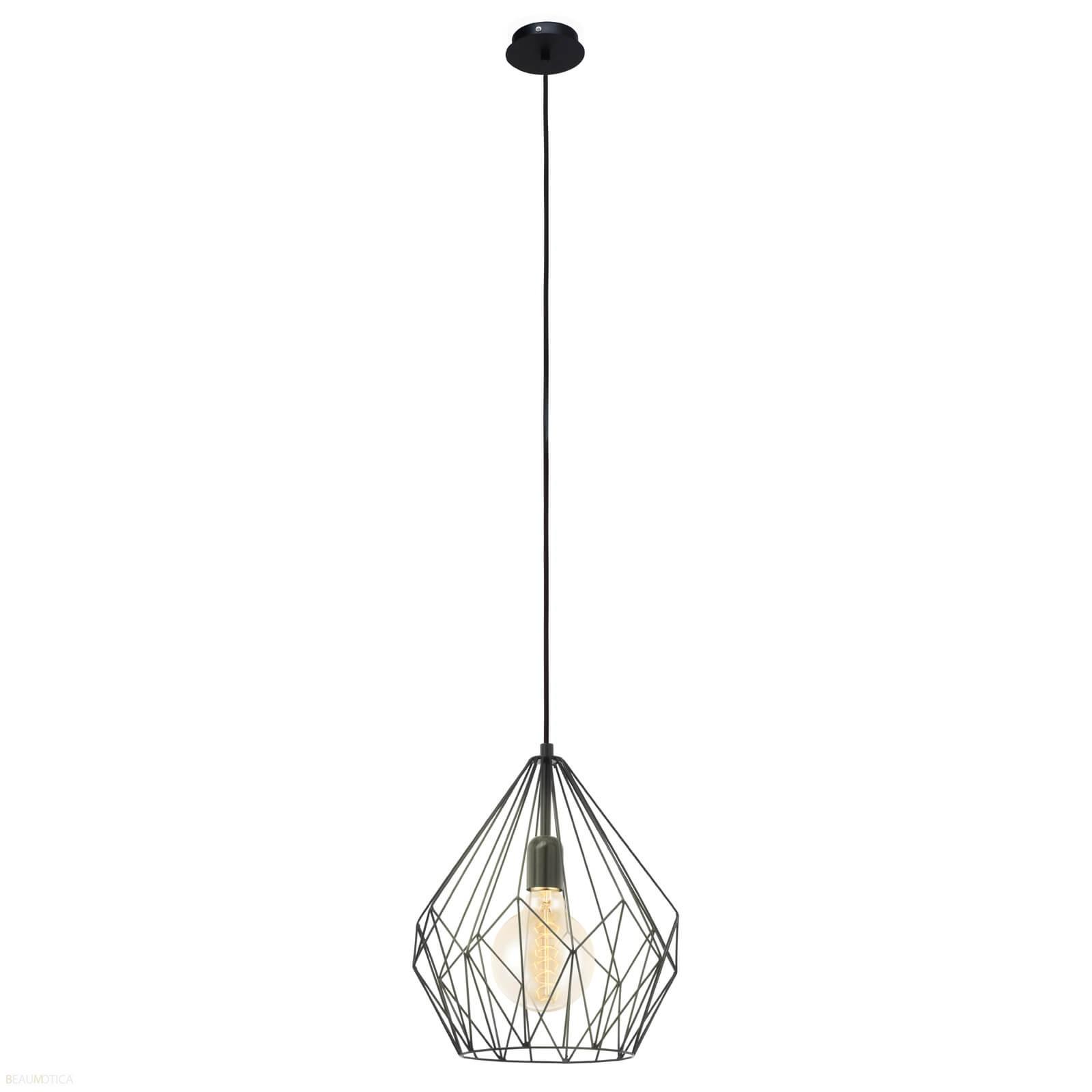 Afbeelding van Eglo Carlton Hanglamp Zwart (ø31cm)