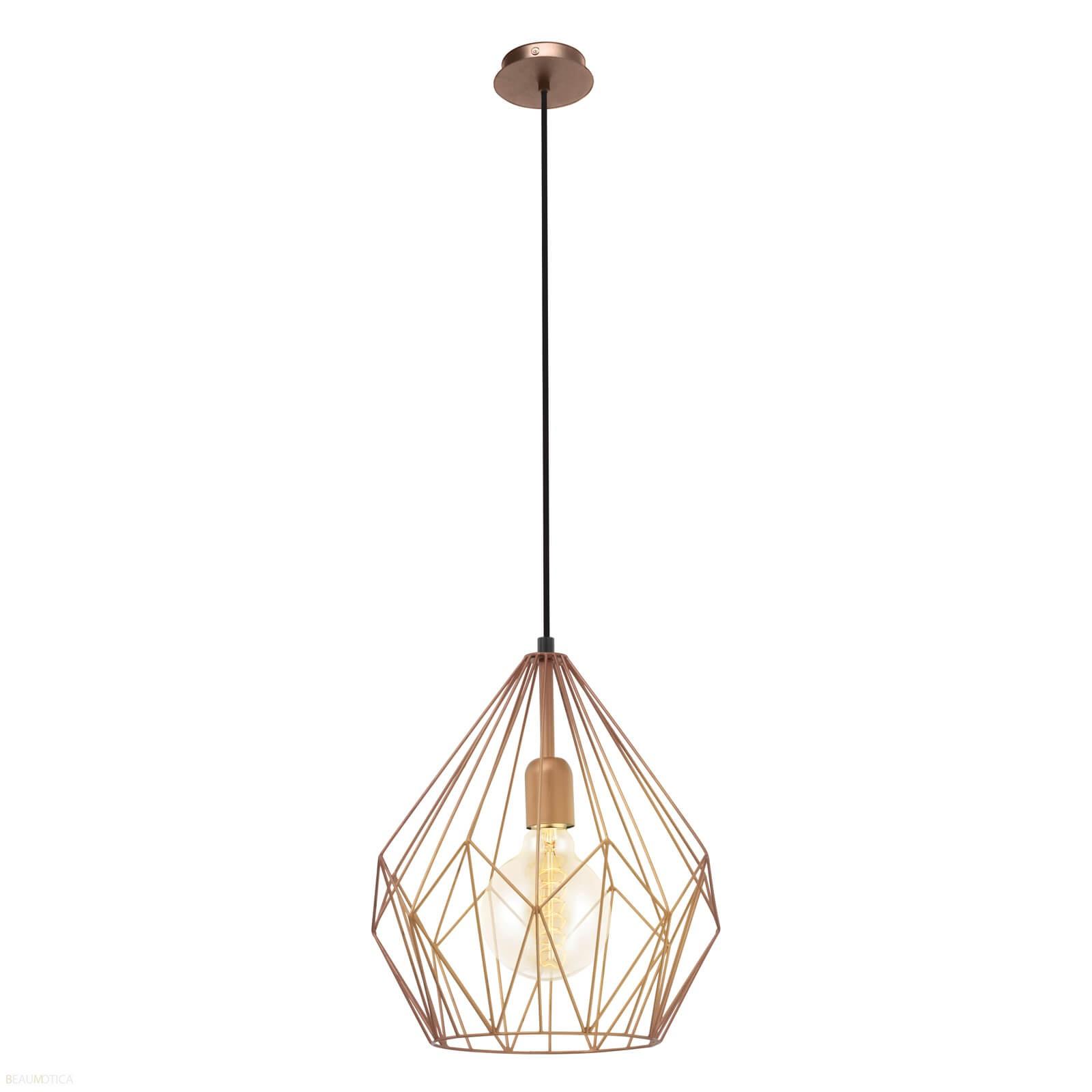 Afbeelding van Eglo Carlton Hanglamp Koperkleur (ø31cm)