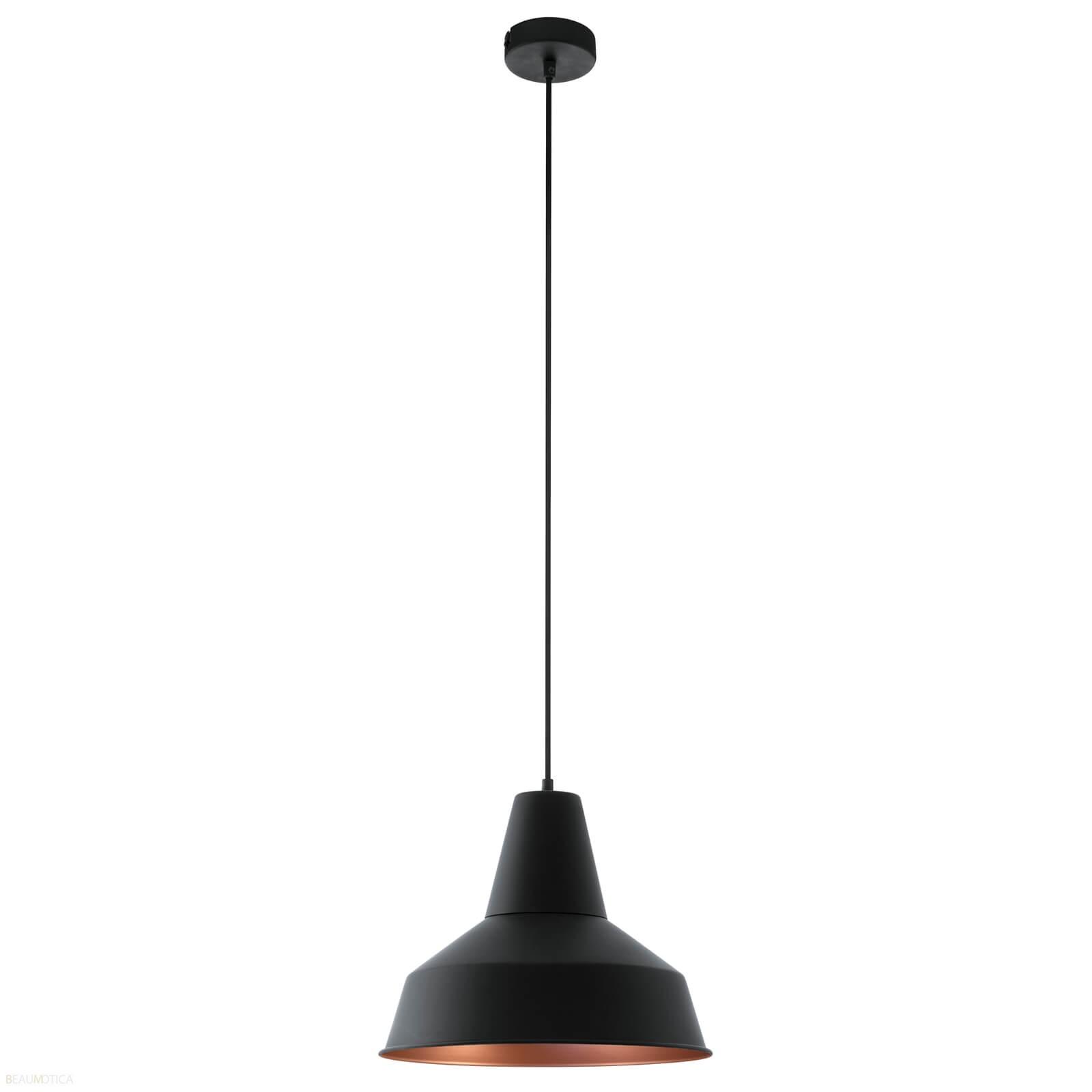 Eglo Somerton Hanglamp Zwart, Koper (ø35 cm)