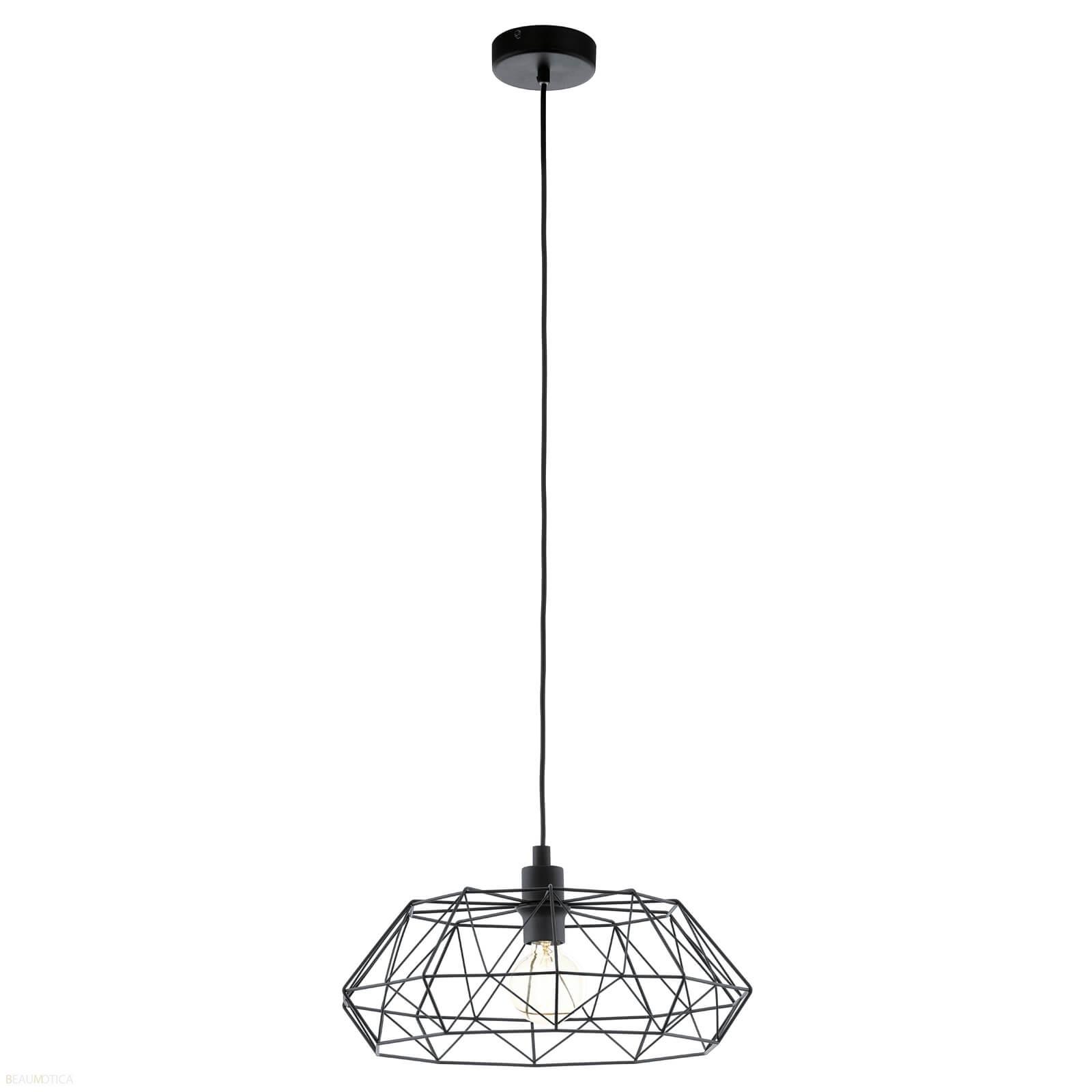 Afbeelding van Eglo Carlton 2 Hanglamp Zwart (ø45,5cm)