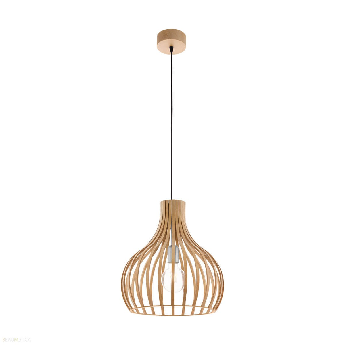 Afbeelding van Eglo Carnico Hanglamp (Natuur Mat Chroom) ø38cm