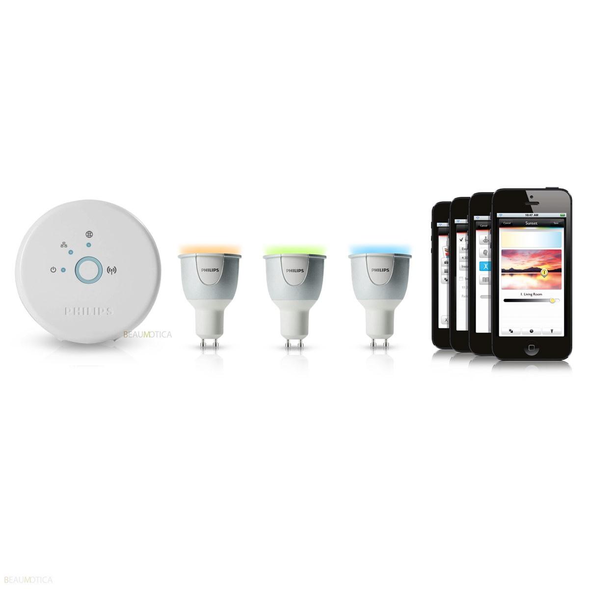 Philips Hue Lampen Gu10.Philips Hue Gu10 Starterset Kopen Bestel Veilig Online Bij Beaumotica