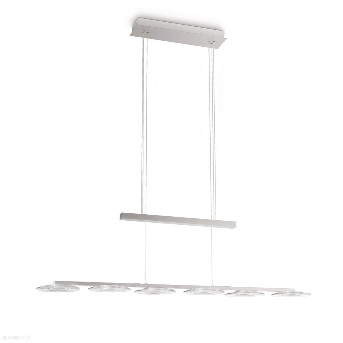 Philips myliving vaga hanglamp aluminium 6 ledlampen lang for Pendelleuchte extra lang