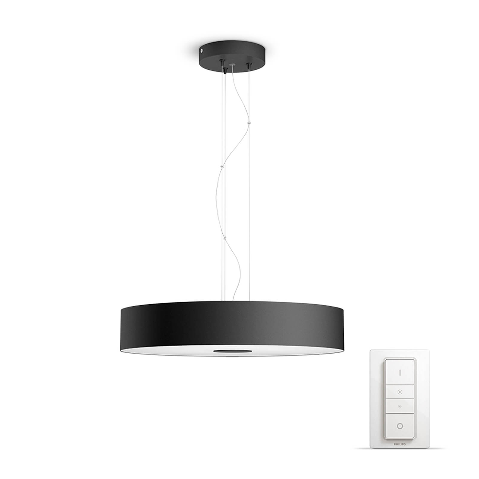philips hue fair hanglamp zwart white ambiance incl dim switch. Black Bedroom Furniture Sets. Home Design Ideas