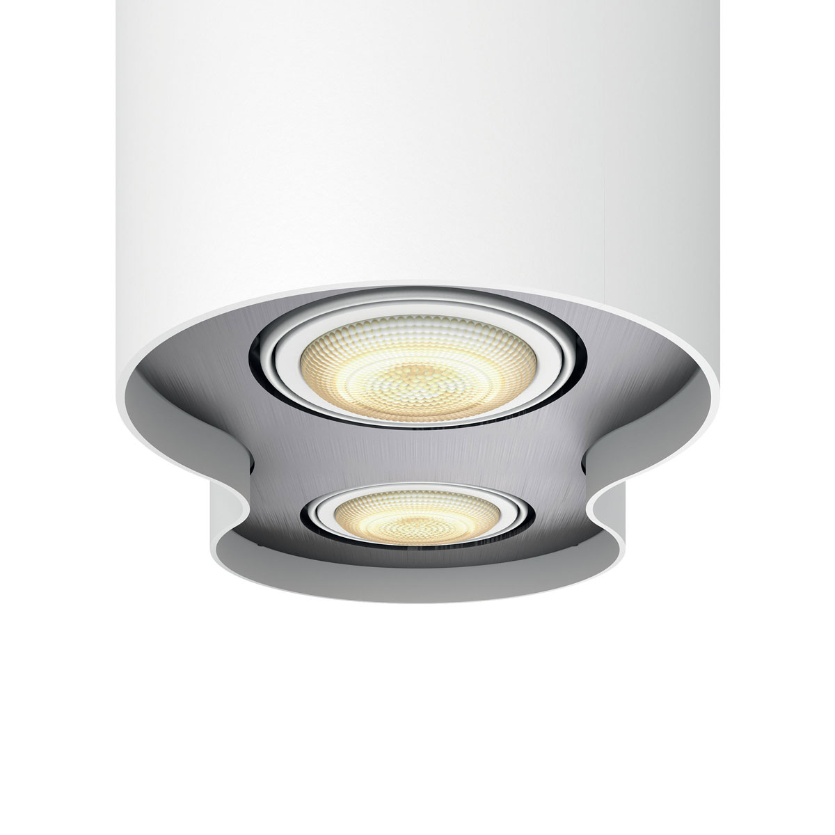 philips hue pillar 2 spot wit white ambiance incl dim switch. Black Bedroom Furniture Sets. Home Design Ideas