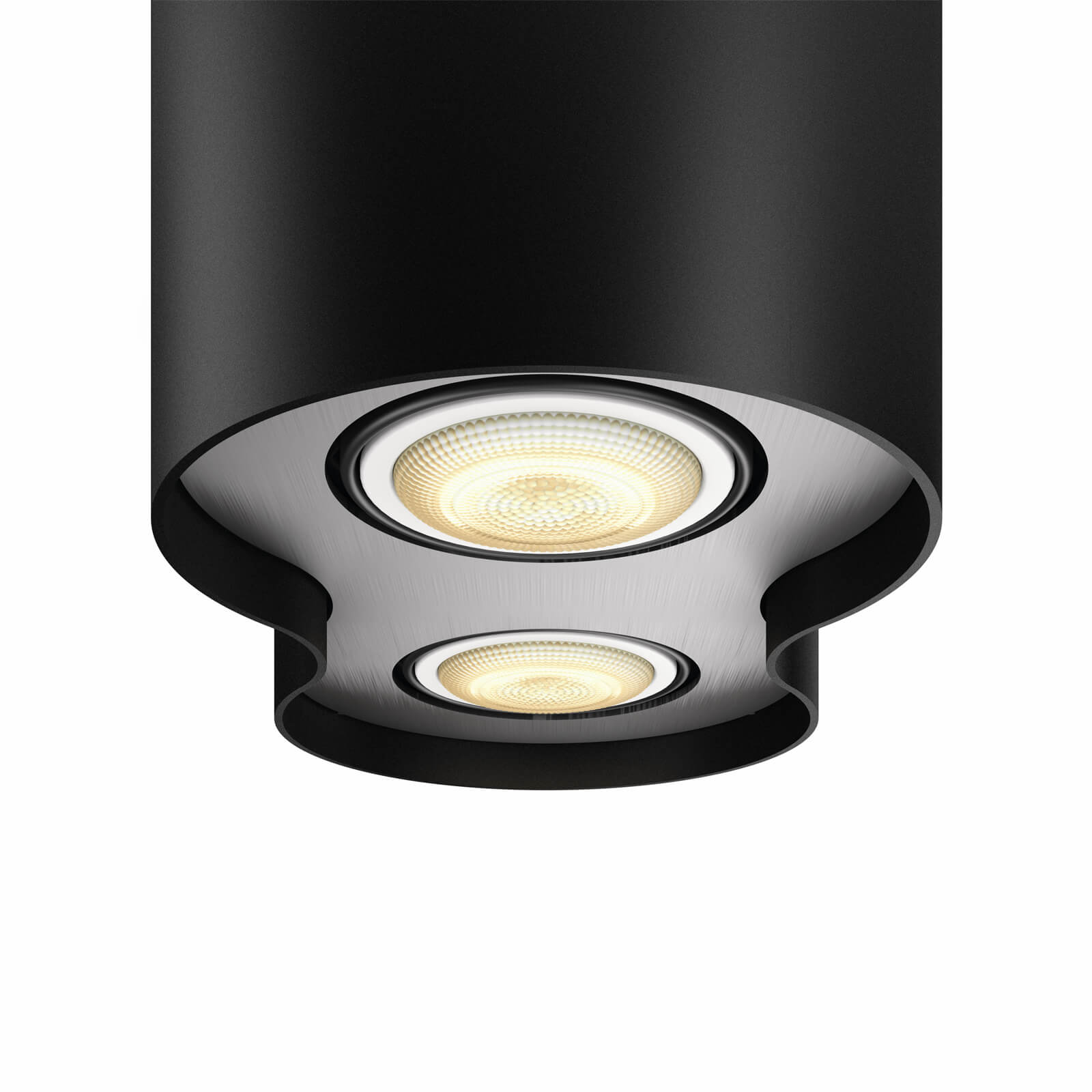 philips hue pillar 2 spot zwart white ambiance incl dim switch. Black Bedroom Furniture Sets. Home Design Ideas