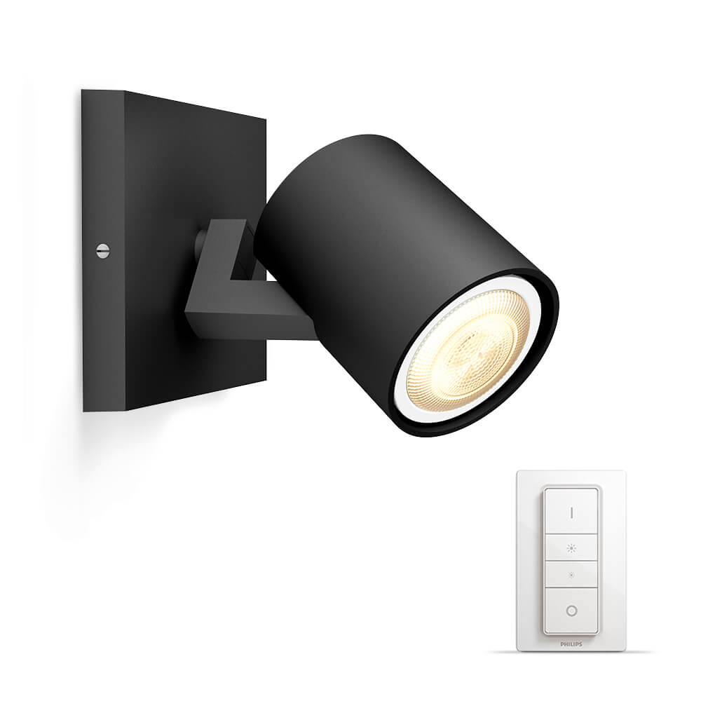 philips hue runner spot zwart white ambiance incl dim switch. Black Bedroom Furniture Sets. Home Design Ideas