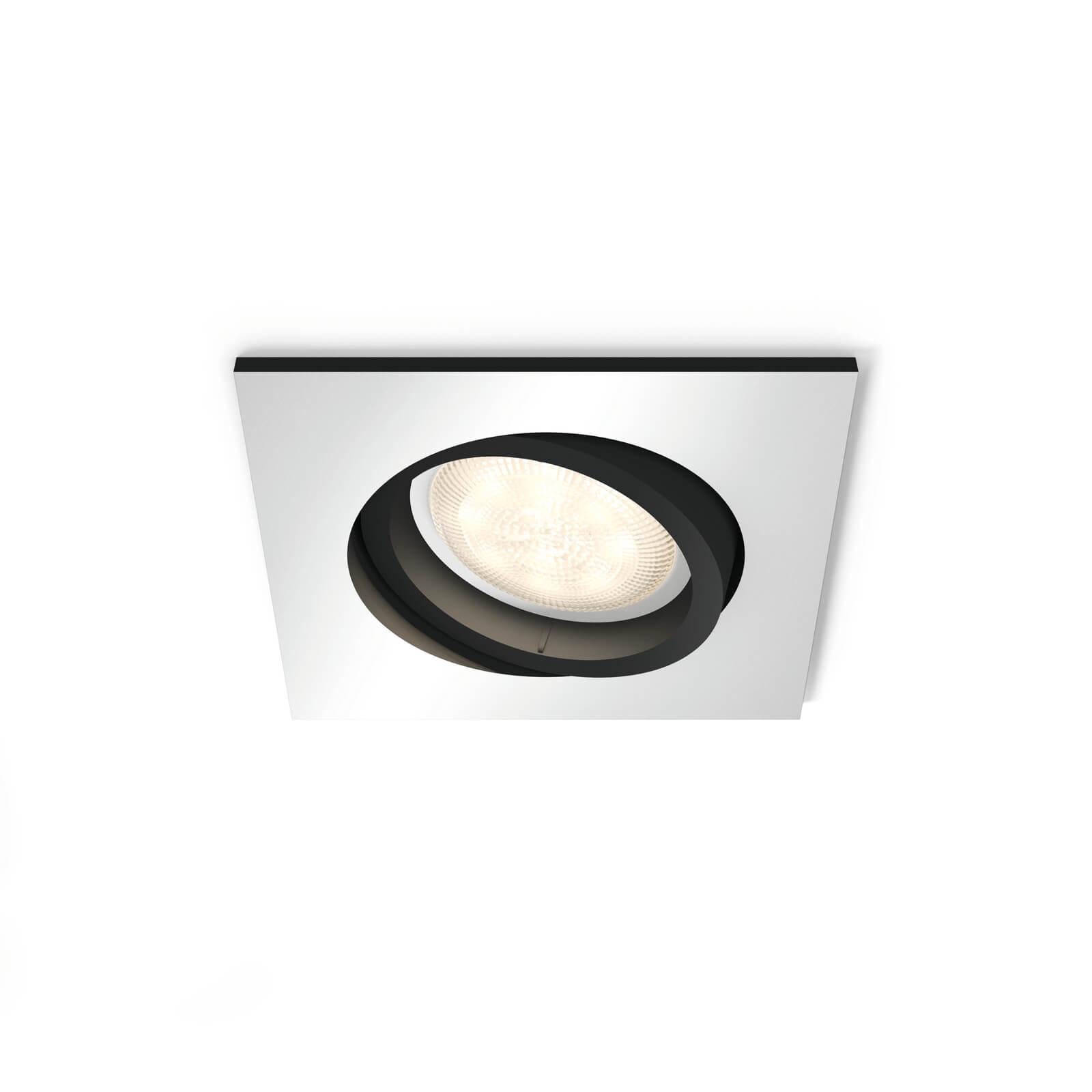 philips hue milliskin inbouwspot aluminium vierkant excl dim switch. Black Bedroom Furniture Sets. Home Design Ideas