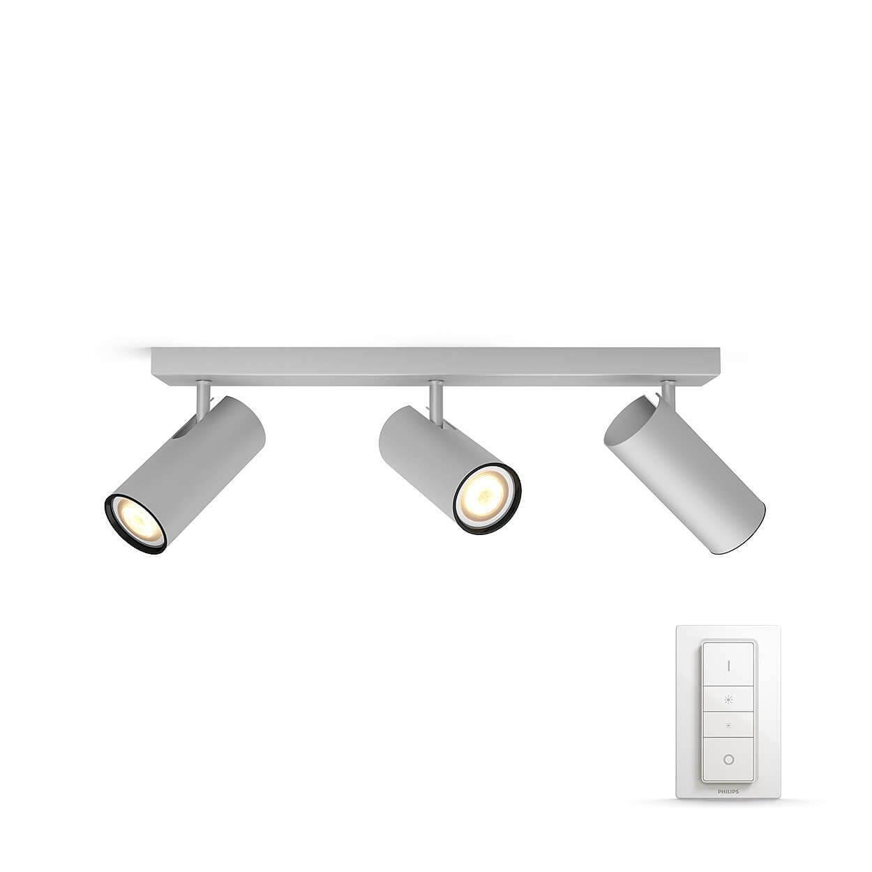 philips hue buratto aluminium 3 spot incl dimswitch. Black Bedroom Furniture Sets. Home Design Ideas