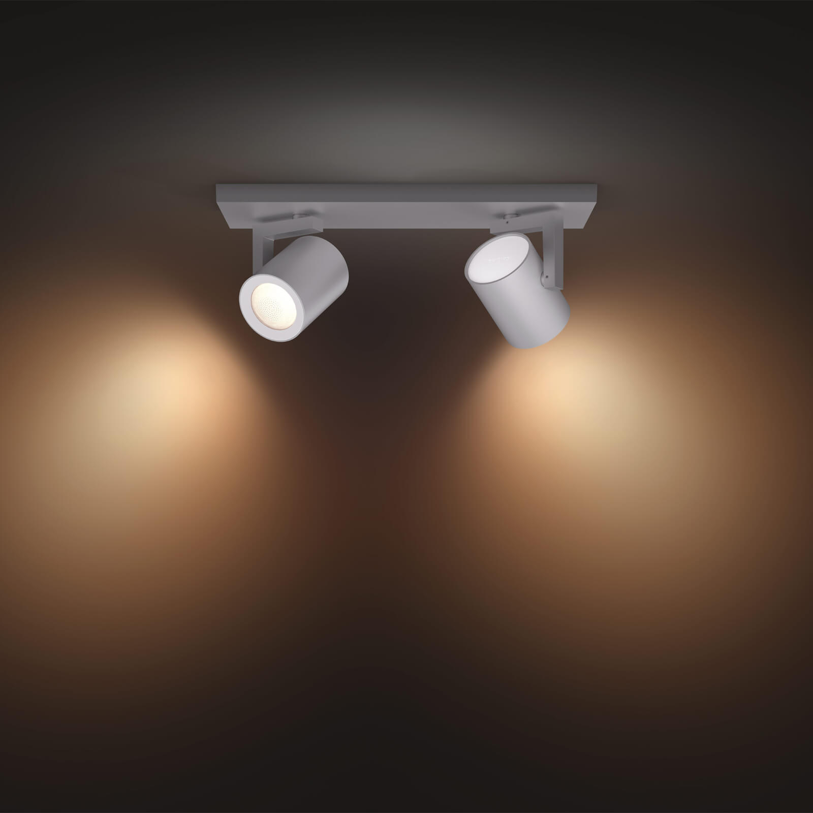 Philips Hue Argenta opbouwspot White and Color 2 spots aluminium