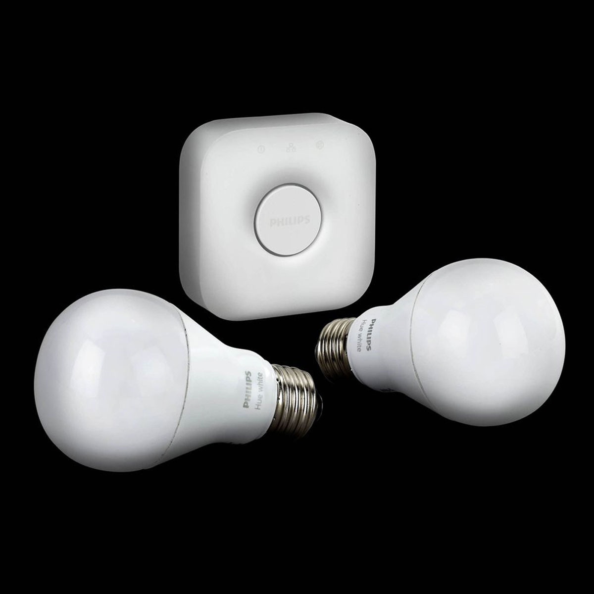 philips hue white starterset e27 a60 2 lampen met bridge 2 0. Black Bedroom Furniture Sets. Home Design Ideas