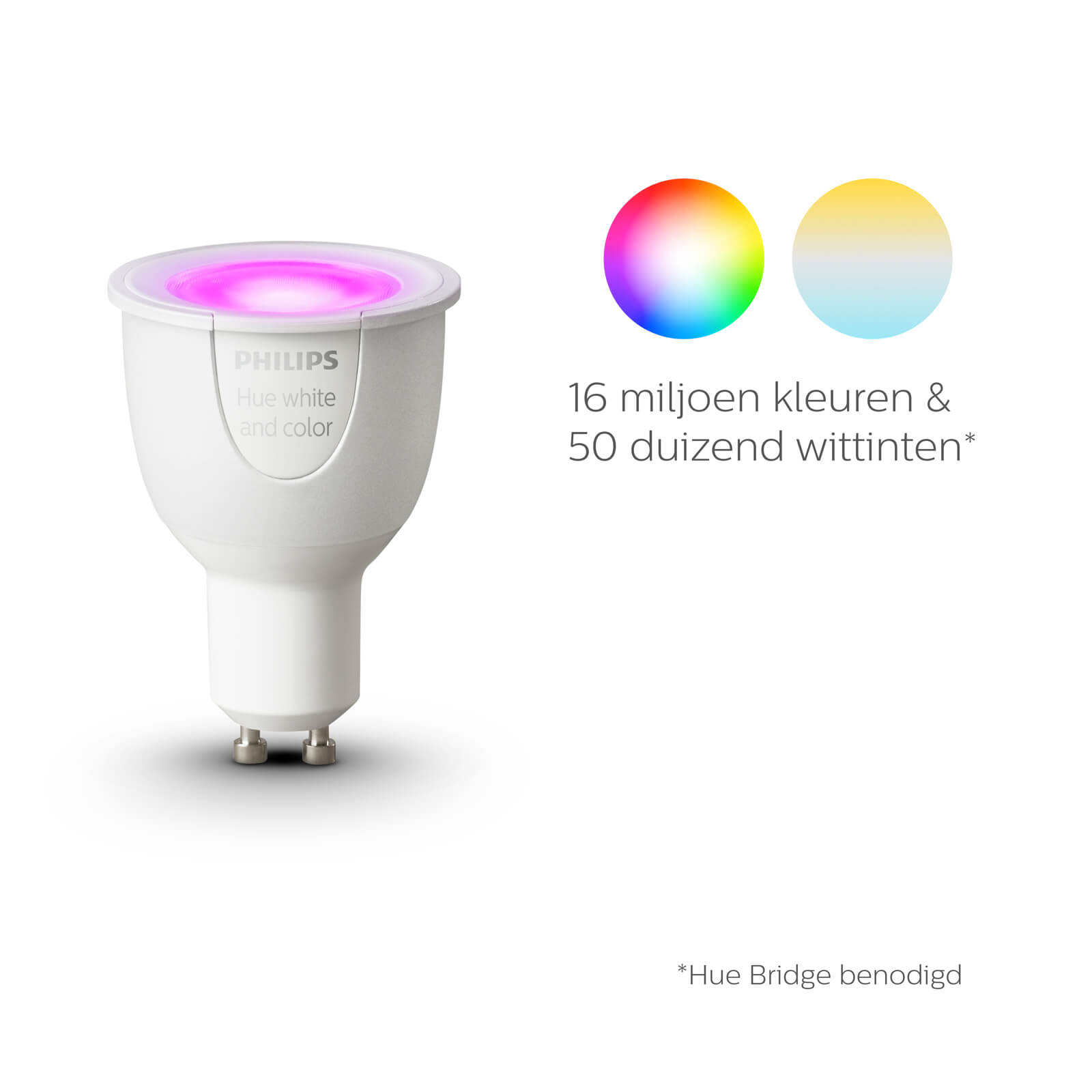 philips hue gu10 white and color single pack. Black Bedroom Furniture Sets. Home Design Ideas