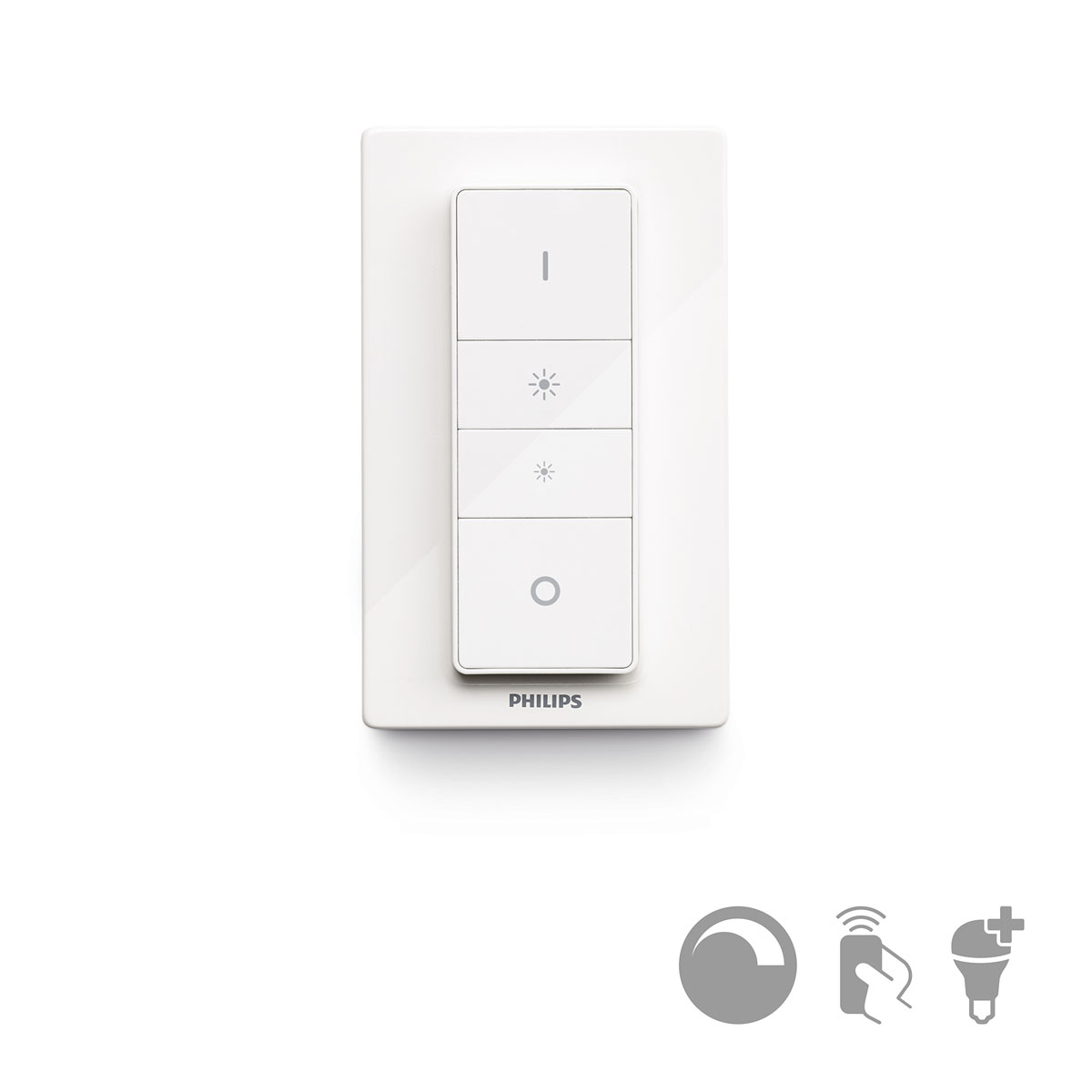 philips hue dim switch dimmer schakelaar. Black Bedroom Furniture Sets. Home Design Ideas