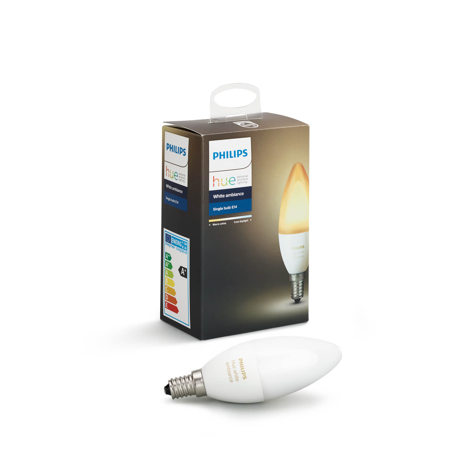 philips hue white ambiance losse lamp e14. Black Bedroom Furniture Sets. Home Design Ideas
