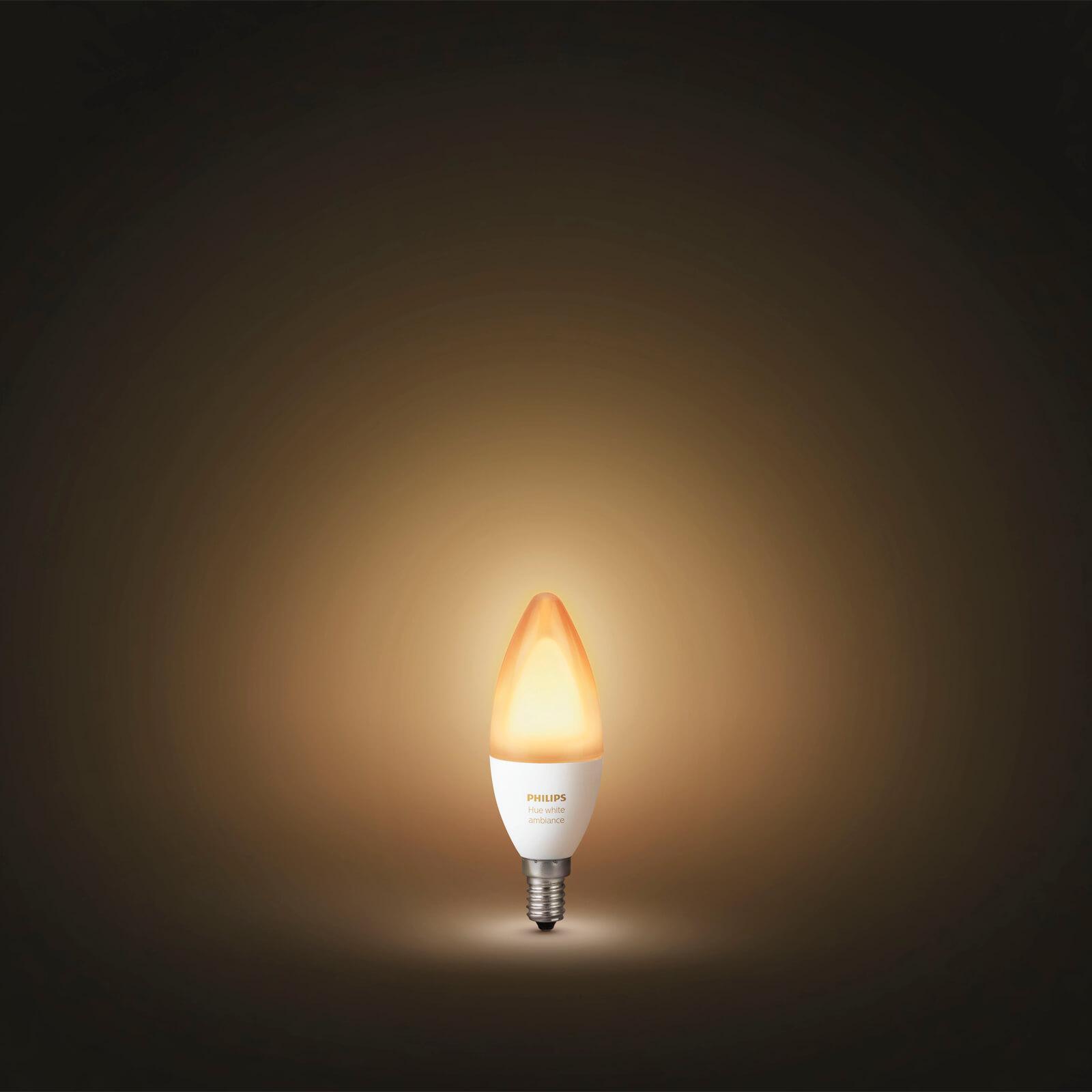 philips hue white ambiance losse lamp e14. Black Bedroom Furniture Sets. Home Design Ideas