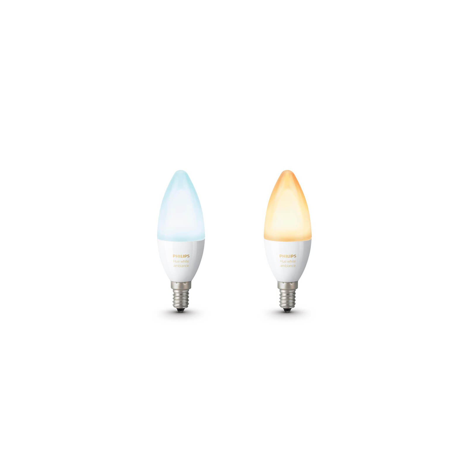 philips hue white ambiance dual pack e14. Black Bedroom Furniture Sets. Home Design Ideas