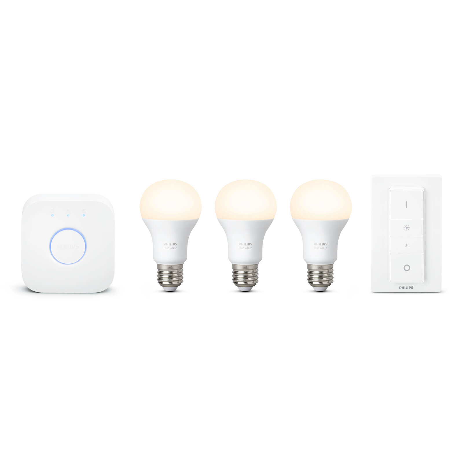 philips hue white starterset 3 lampen bridge 2 1 schakelaar. Black Bedroom Furniture Sets. Home Design Ideas