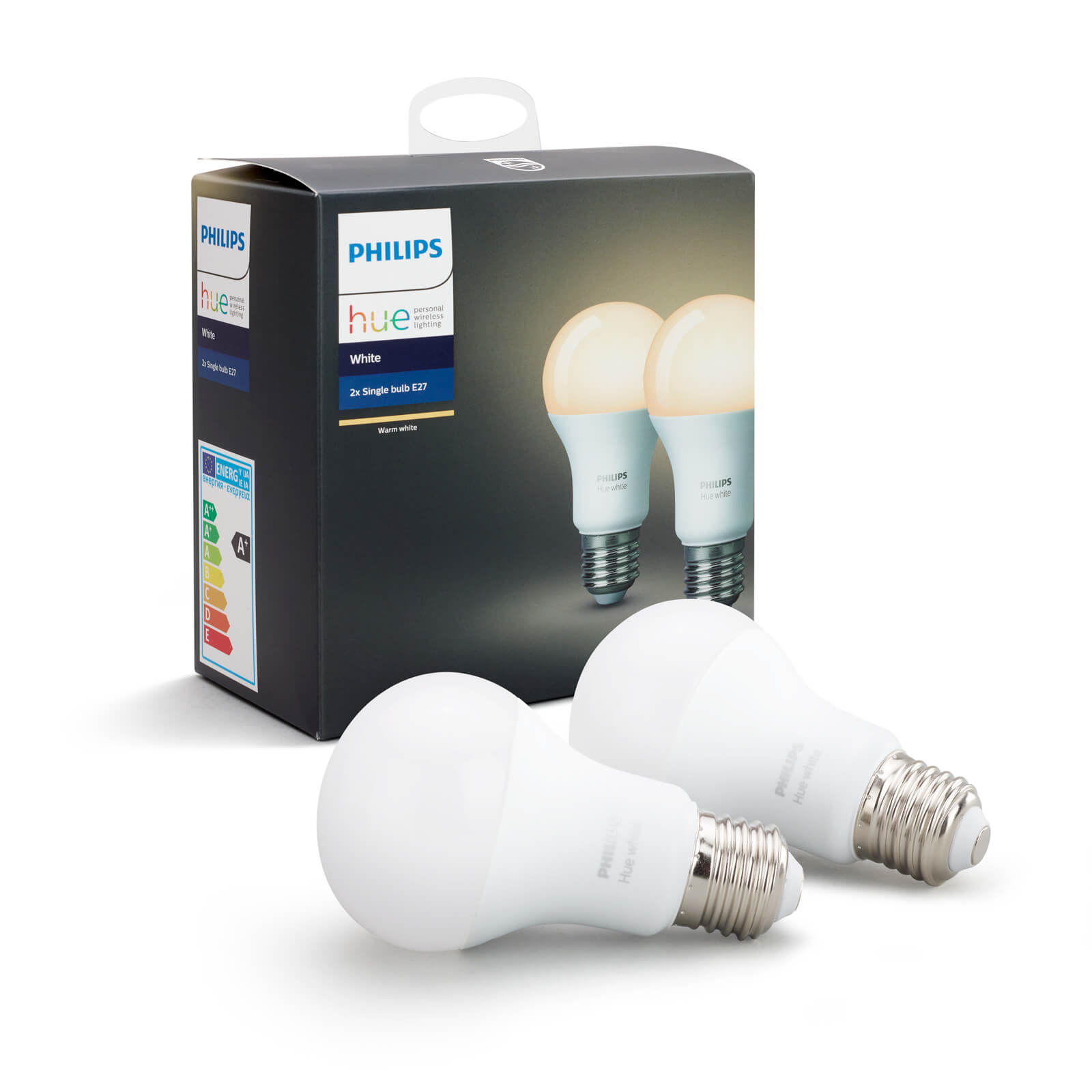 philips hue white e27 duo pack. Black Bedroom Furniture Sets. Home Design Ideas