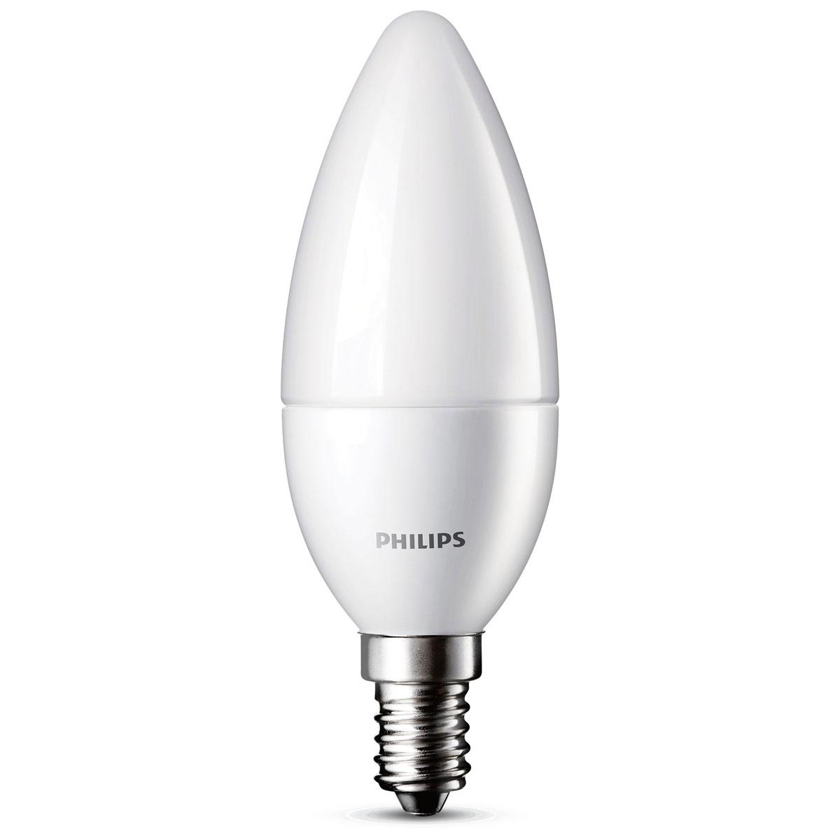 philips led lamp kaars mat 3w 25w e14. Black Bedroom Furniture Sets. Home Design Ideas