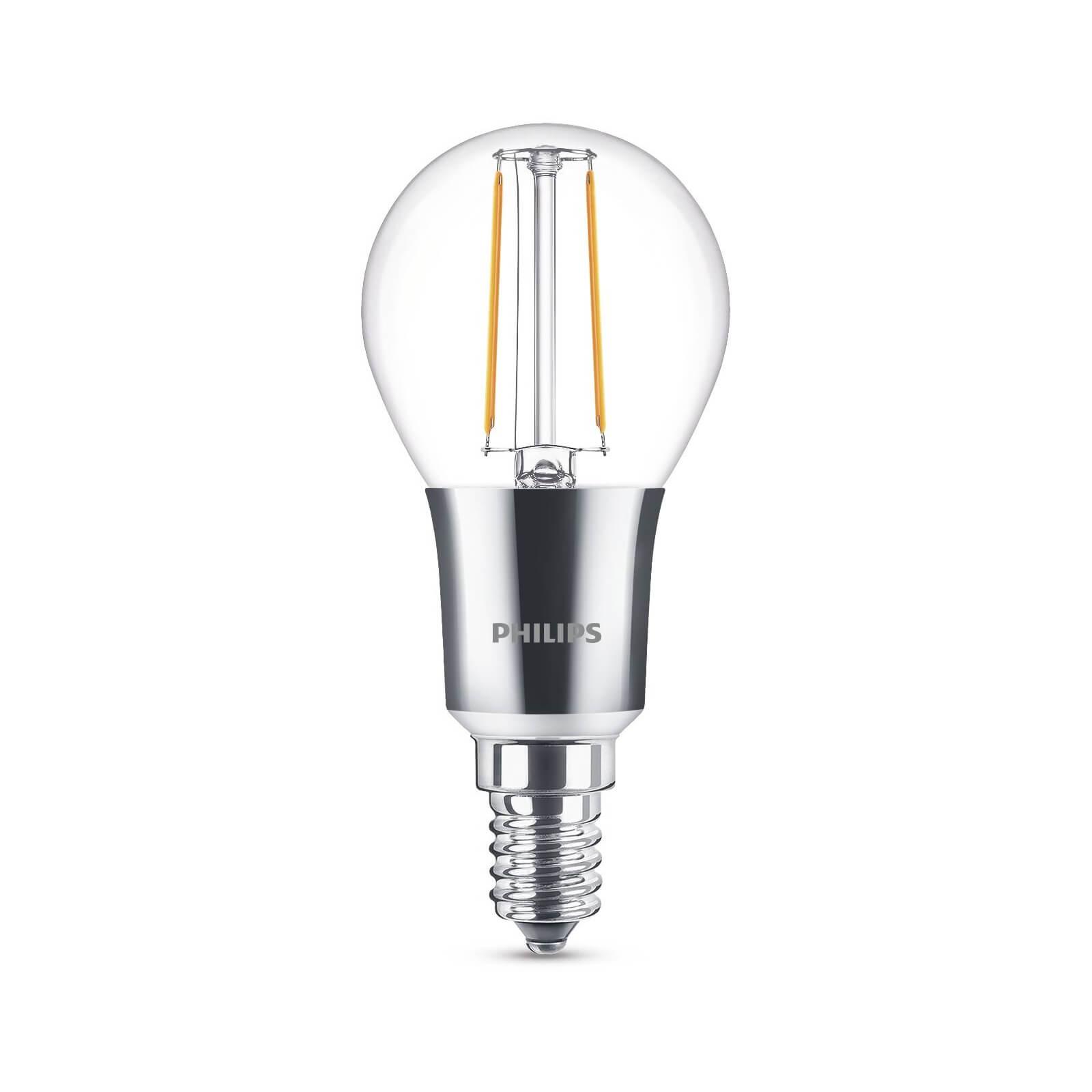 philips led lamp kogel helder 3w 25w e14 dimbaar. Black Bedroom Furniture Sets. Home Design Ideas
