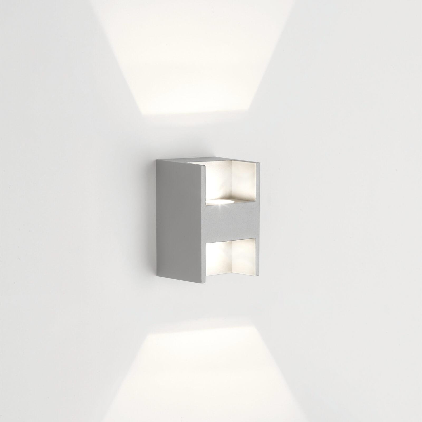 Philips ledino metric wandlamp grijs 2 lampen for Lampen philips