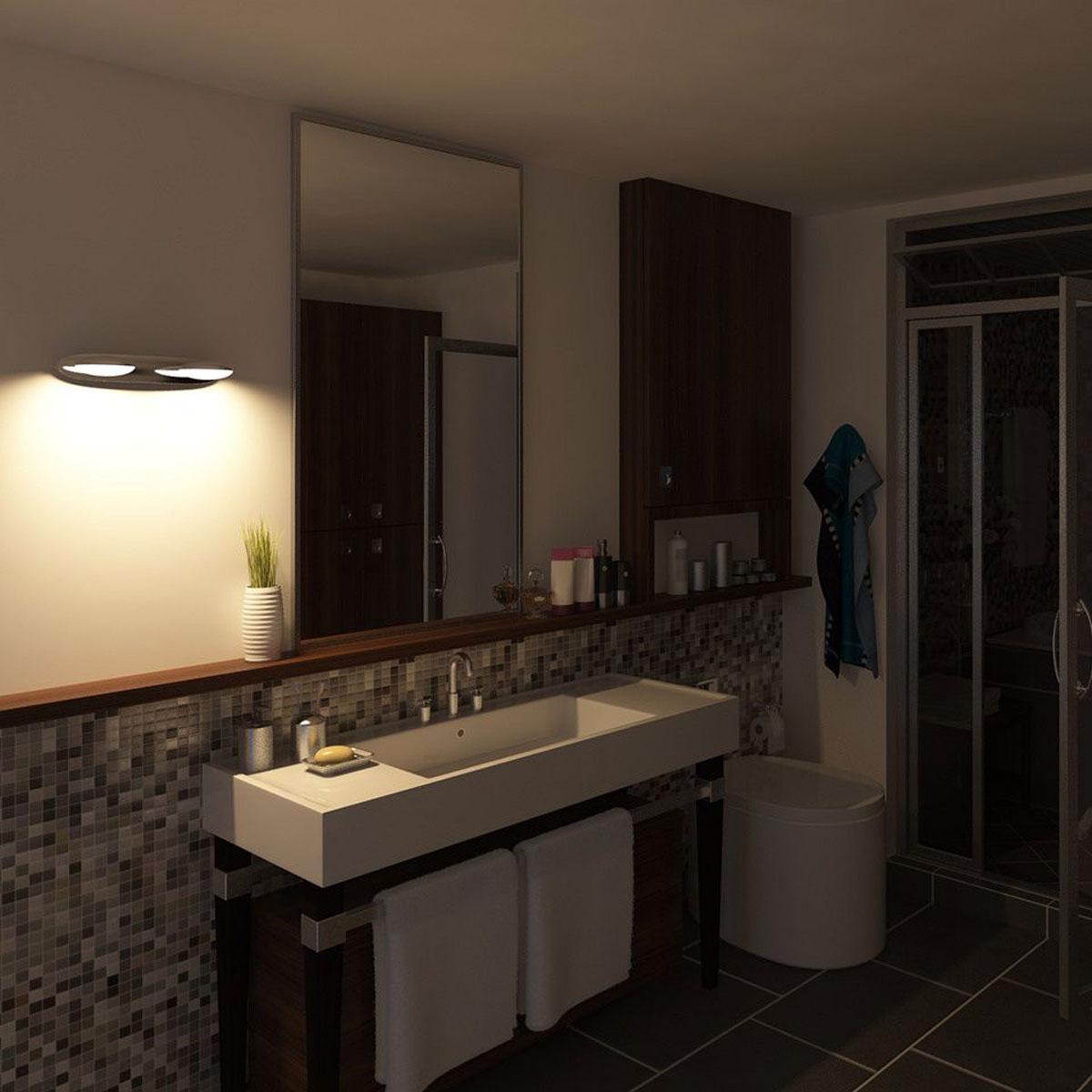 philips mybathroom hotstone wandlamp chroom 2 lampen. Black Bedroom Furniture Sets. Home Design Ideas
