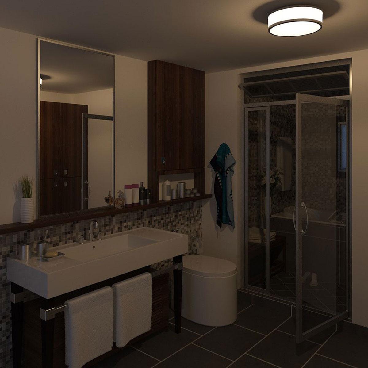 philips mybathroom dew plafondlamp chroom. Black Bedroom Furniture Sets. Home Design Ideas