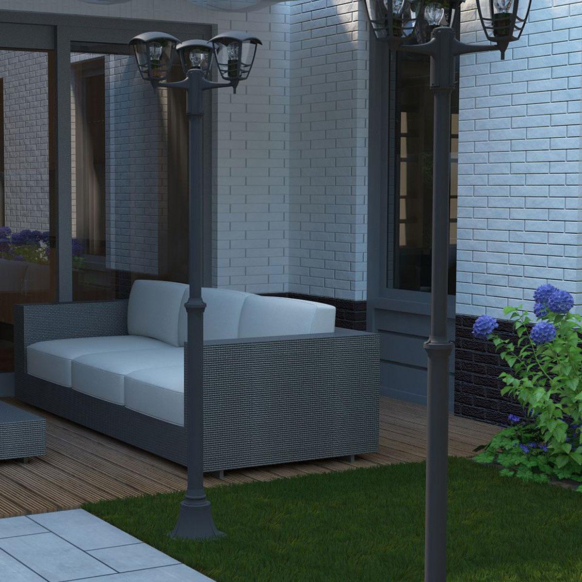 philips mygarden creek sokkel zwart 184cm. Black Bedroom Furniture Sets. Home Design Ideas