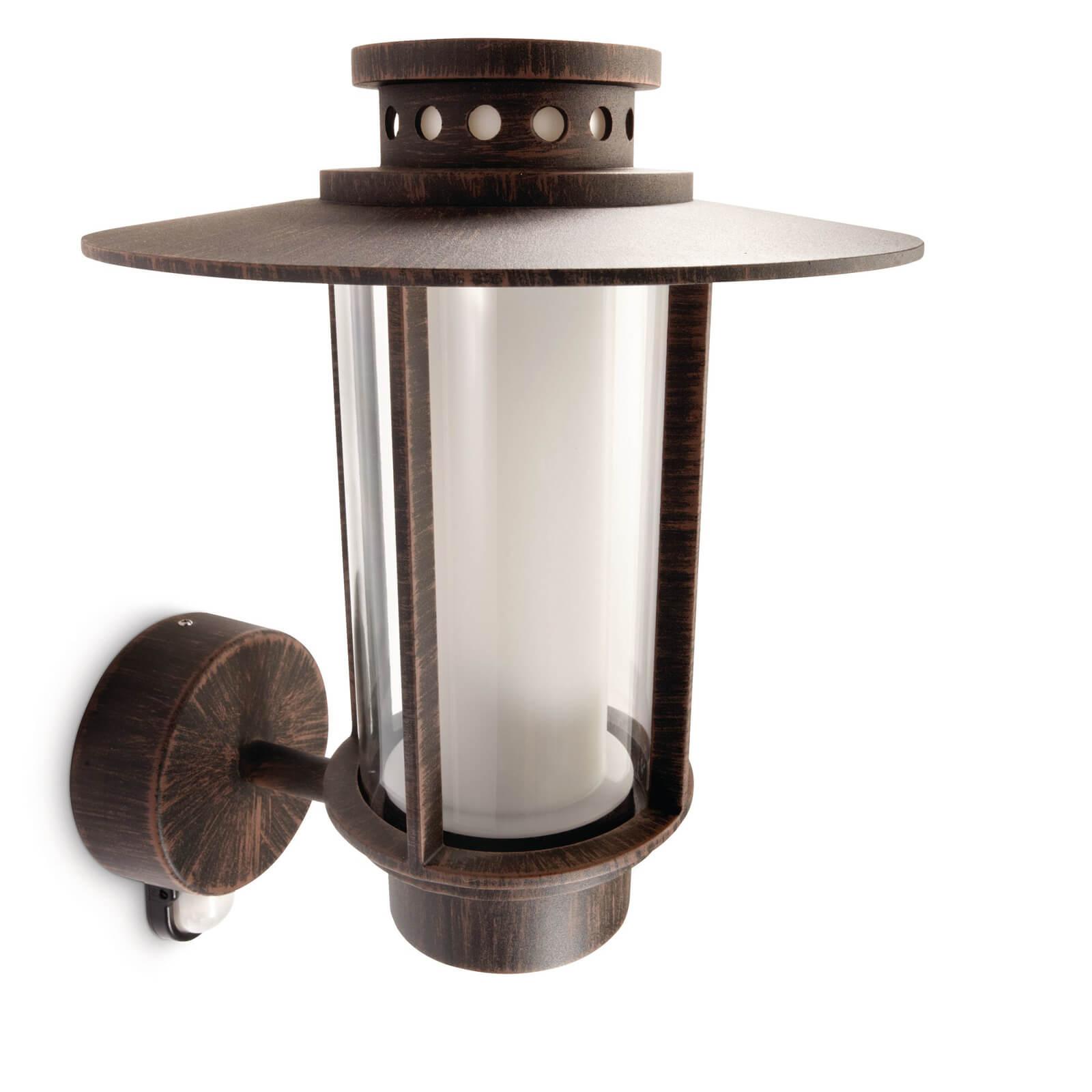 philips mygarden origin wandlamp bruin bewegingssensor. Black Bedroom Furniture Sets. Home Design Ideas