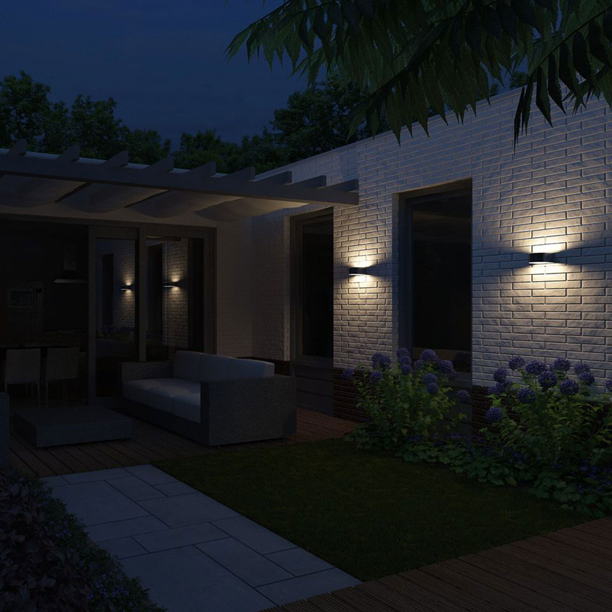 philips mygarden picnic wandlamp rvs wit. Black Bedroom Furniture Sets. Home Design Ideas