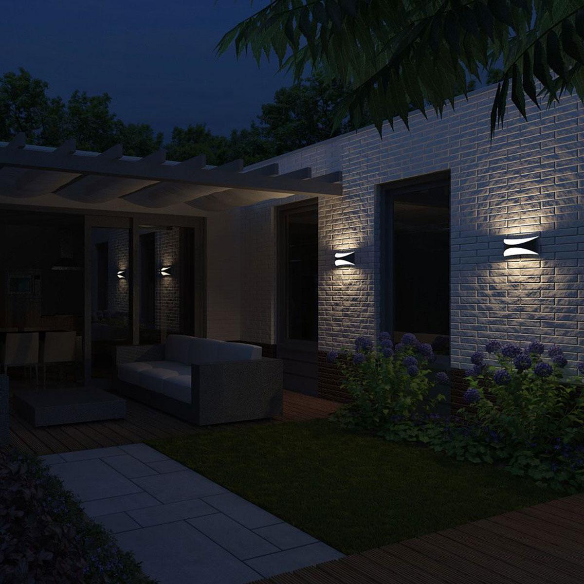 philips mygarden seedling wandlamp rvs wit. Black Bedroom Furniture Sets. Home Design Ideas