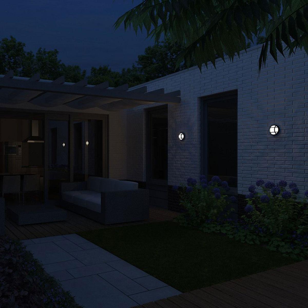 philips mygarden eagle wandlamp zwart. Black Bedroom Furniture Sets. Home Design Ideas