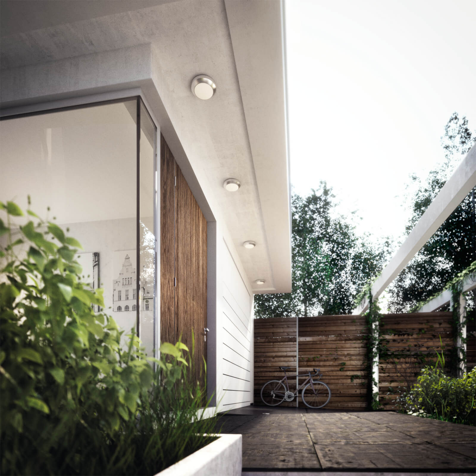 philips mygarden halo wandlamp rvs. Black Bedroom Furniture Sets. Home Design Ideas