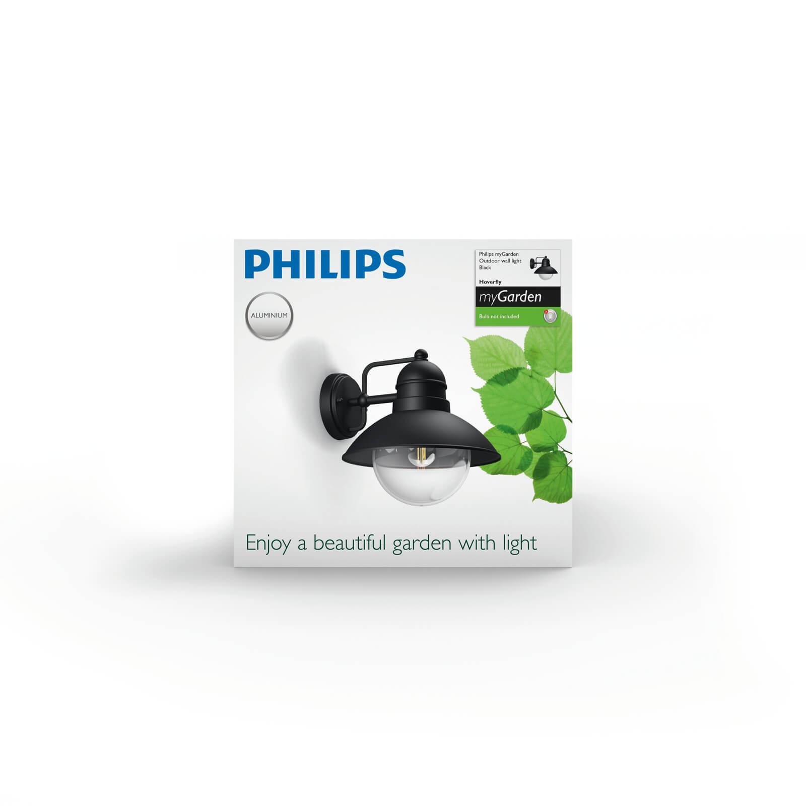 philips mygarden hoverfly wandlamp zwart. Black Bedroom Furniture Sets. Home Design Ideas