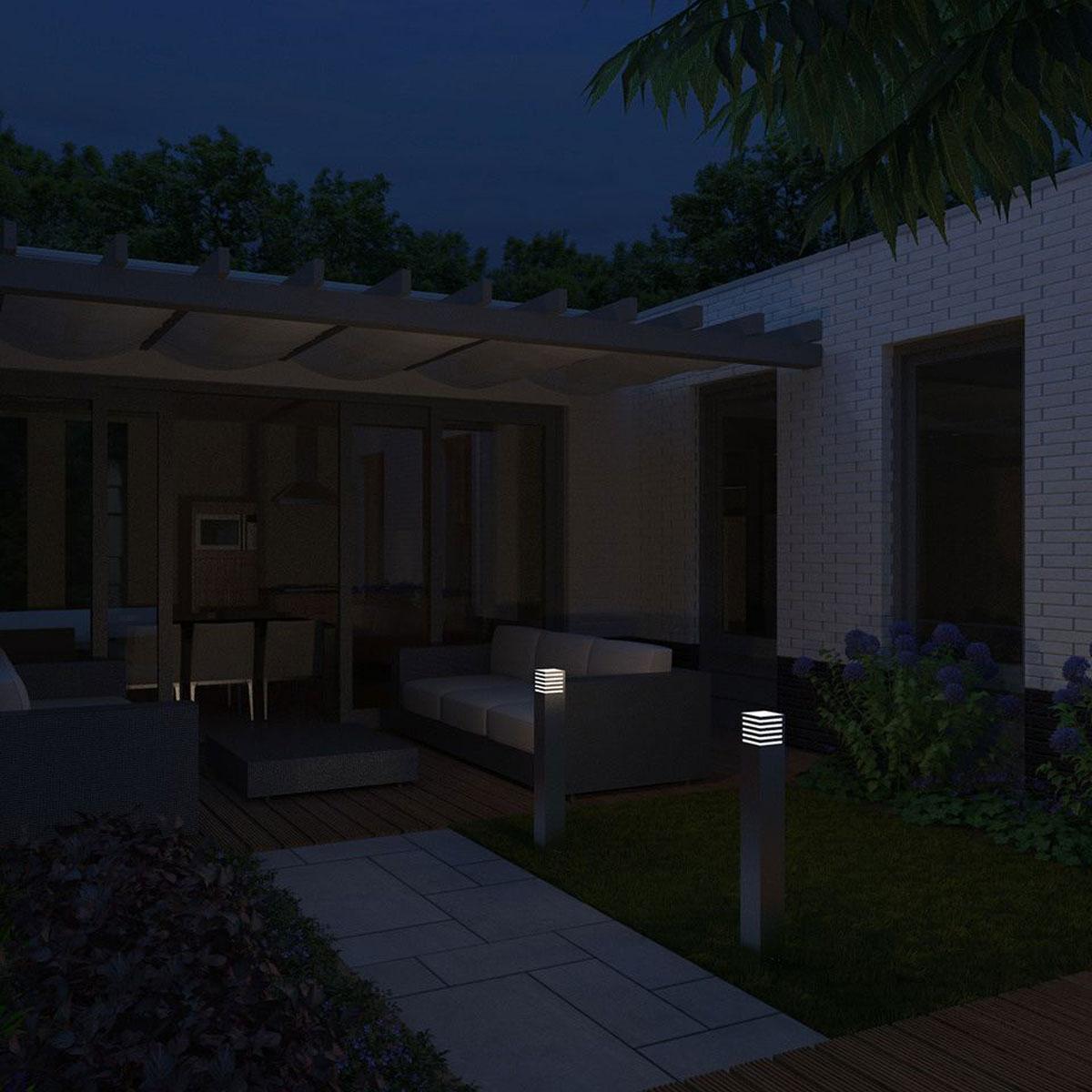 philips mygarden veranda sokkel rvs 80cm. Black Bedroom Furniture Sets. Home Design Ideas