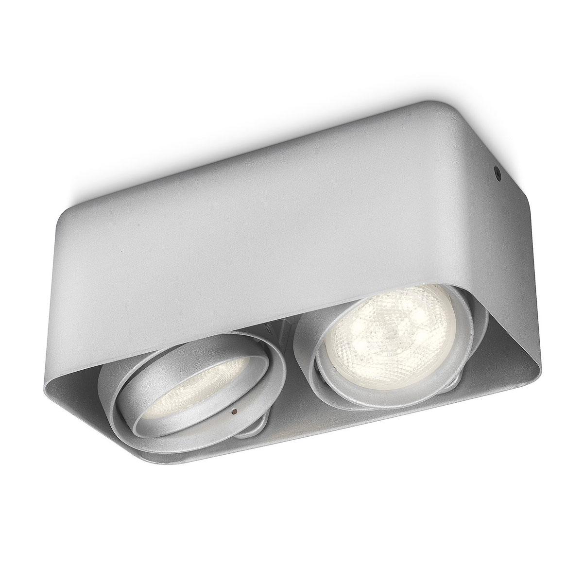 philips myliving afzelia spot aluminium 2 spots. Black Bedroom Furniture Sets. Home Design Ideas