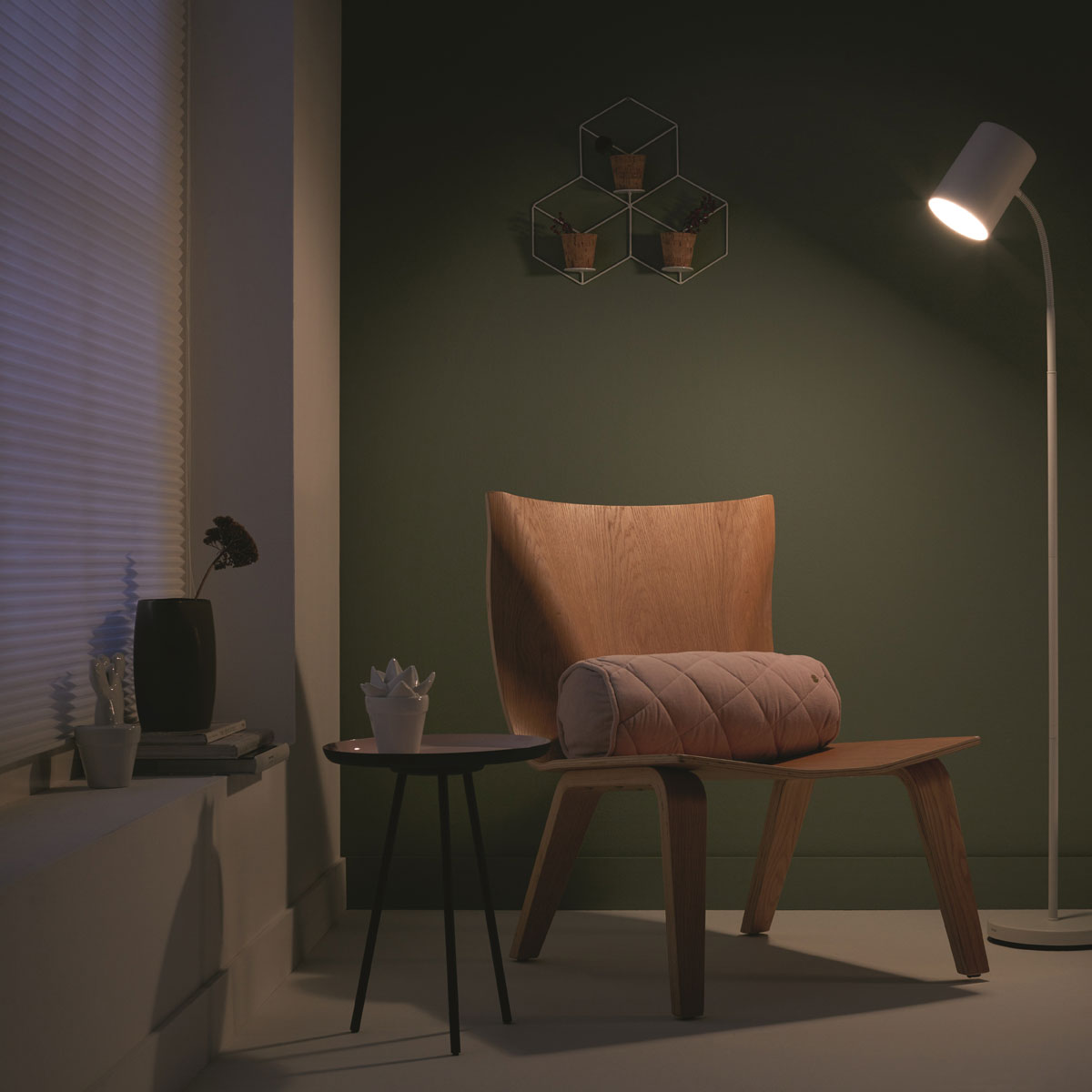 Philips Myliving Himroo Vloerlamp Wit