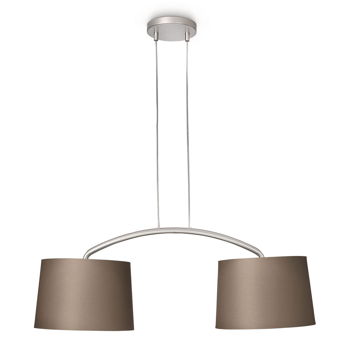 Philips myliving licius hanglamp grijs bruin taupe brown brushed - Bruin taupe ...