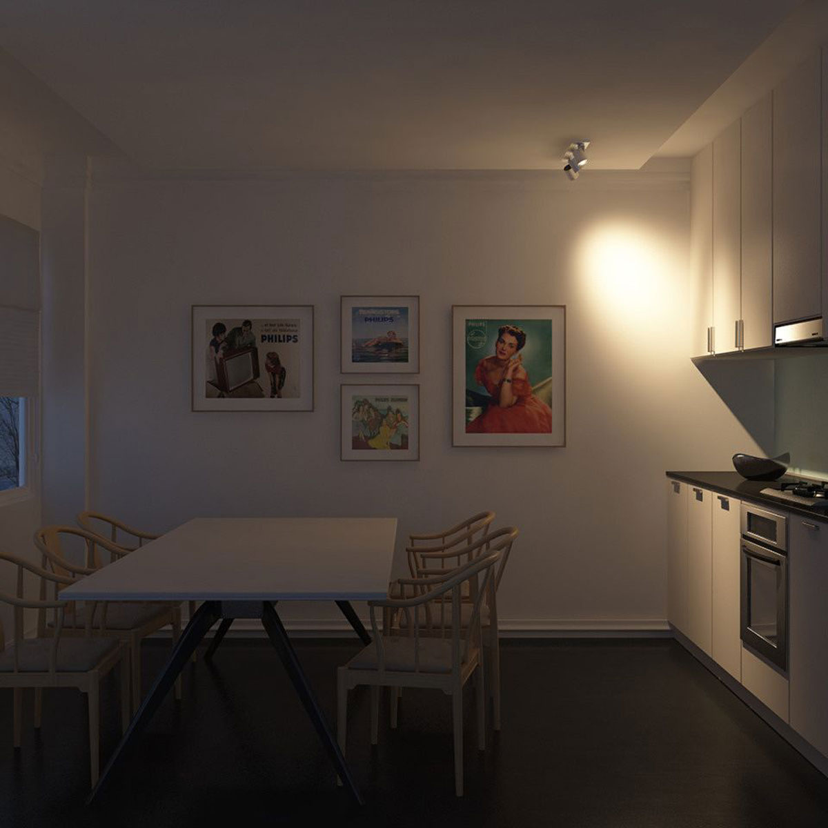 philips myliving runner spot aluminium 3 spots. Black Bedroom Furniture Sets. Home Design Ideas