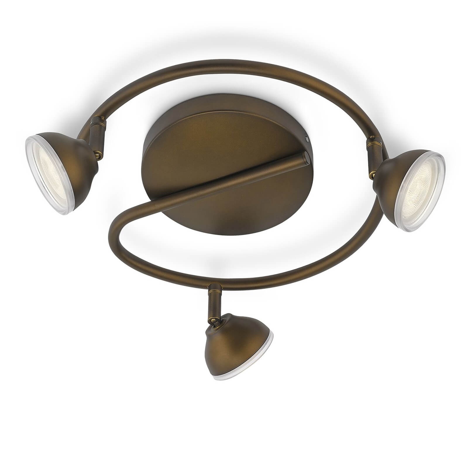 philips myliving toscane spot brons 3 spots. Black Bedroom Furniture Sets. Home Design Ideas