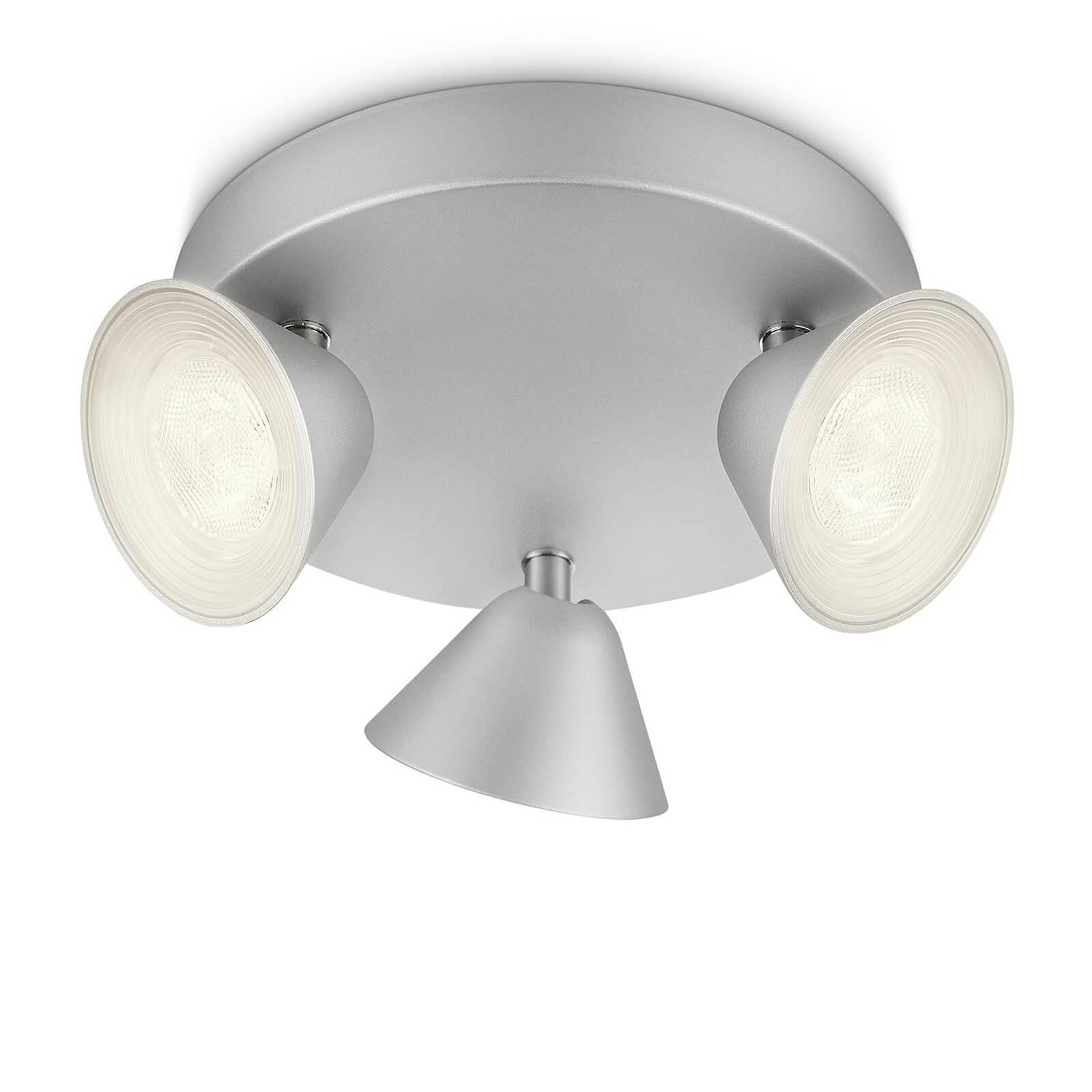 philips myliving tweed spot aluminium 3 spots. Black Bedroom Furniture Sets. Home Design Ideas