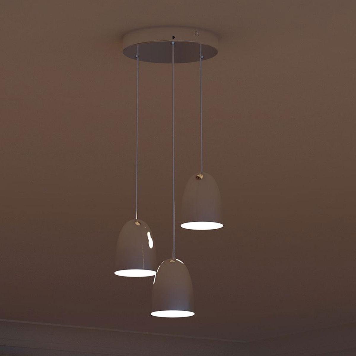 Philips myliving wolga hanglamp chroom 3 lampen for Lampen philips
